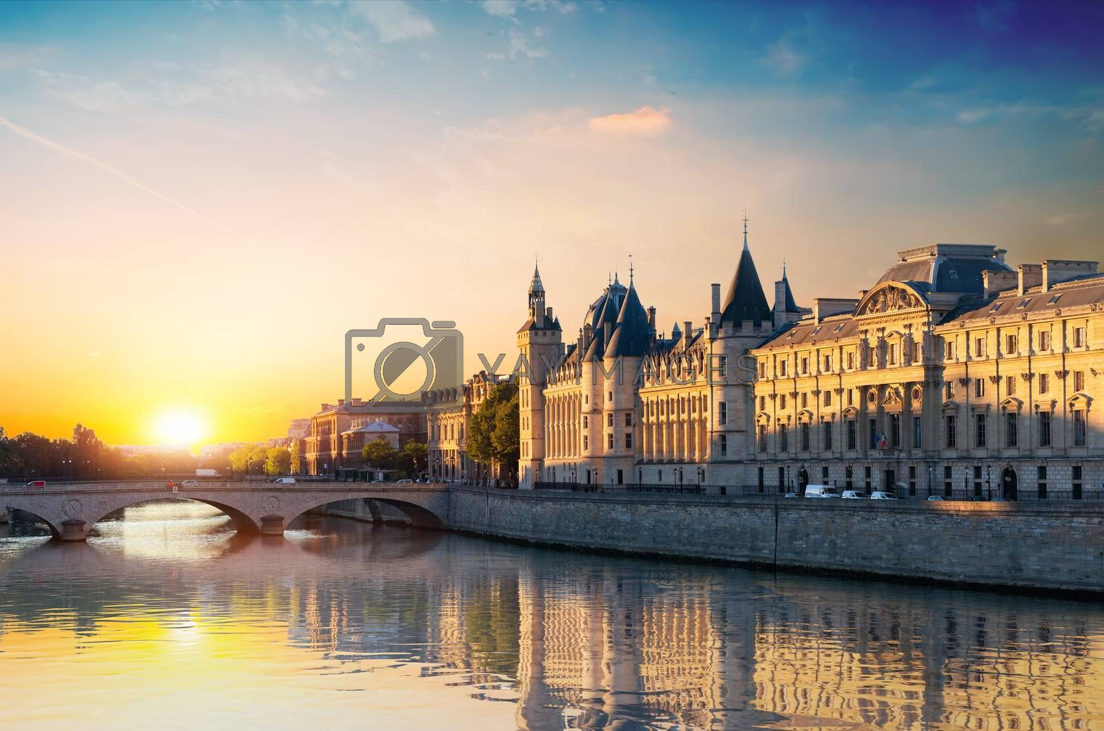 Court of Cassation on Seine in Paris, France