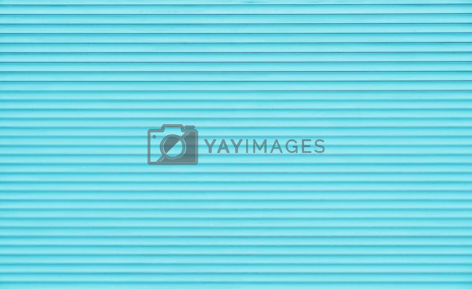 Teal blue horizontal roller shutter blinds by BreakingTheWalls