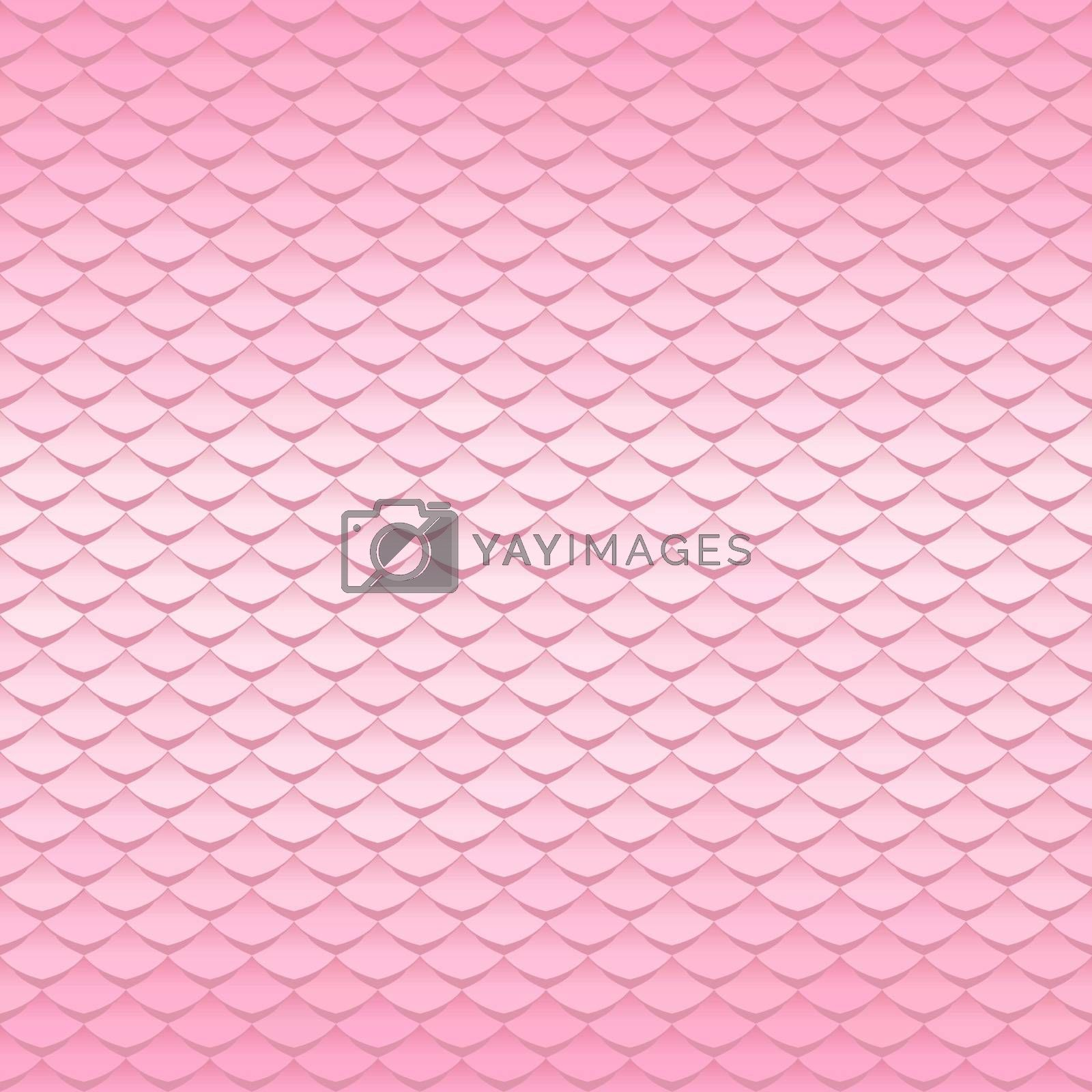 Pink texture. Abstract scale pattern. Roof tiles background. by ESSL