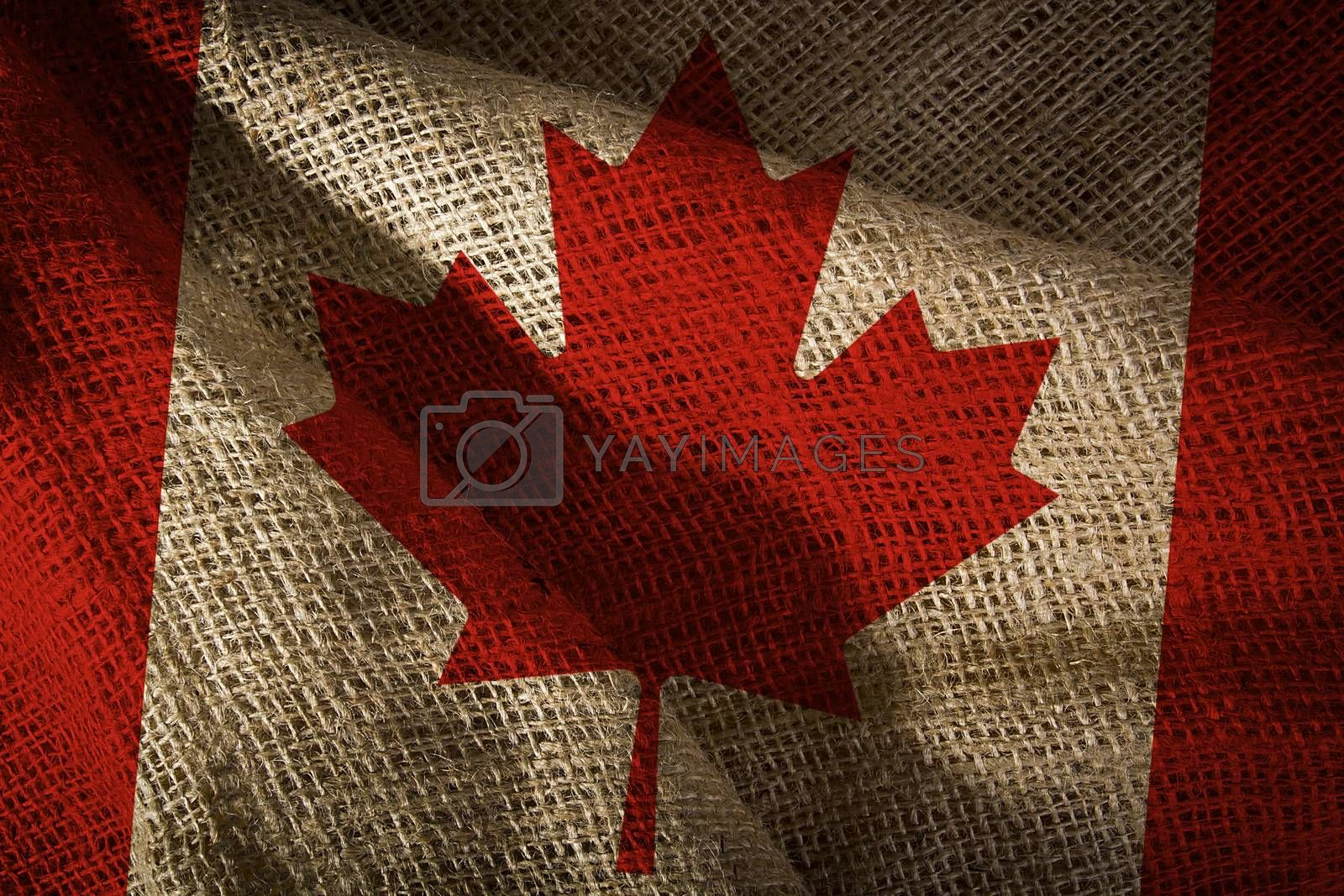 The state flag of Canada coarse fabric