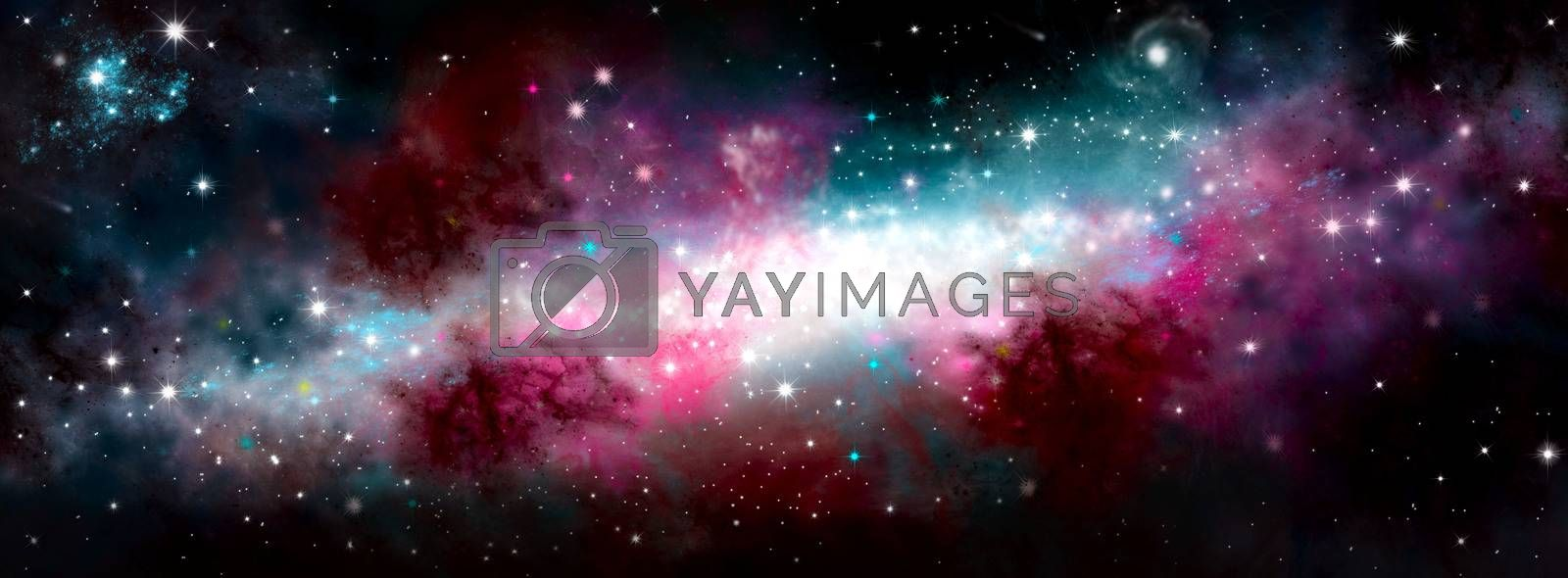 The birth of the galaxy. Shining stars. Star nebula. Cluster of stars. The night starry sky. Space background. Spase. Universe.