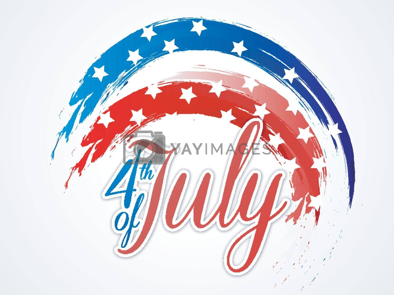 4th of July, Independence Day abstract background with American Flag color brush strokes.