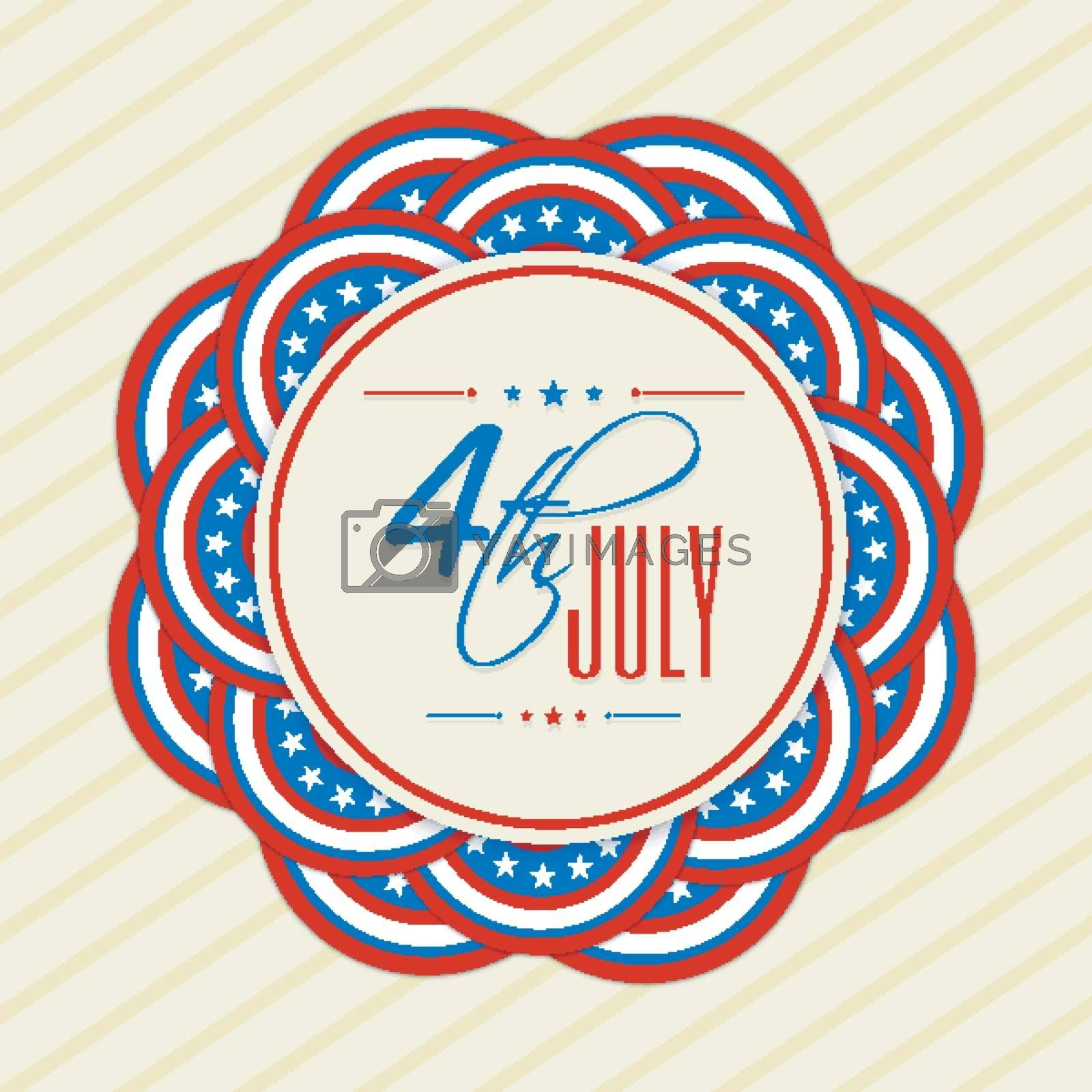 4th of July, Independence Day celebration background in American Flag colors.