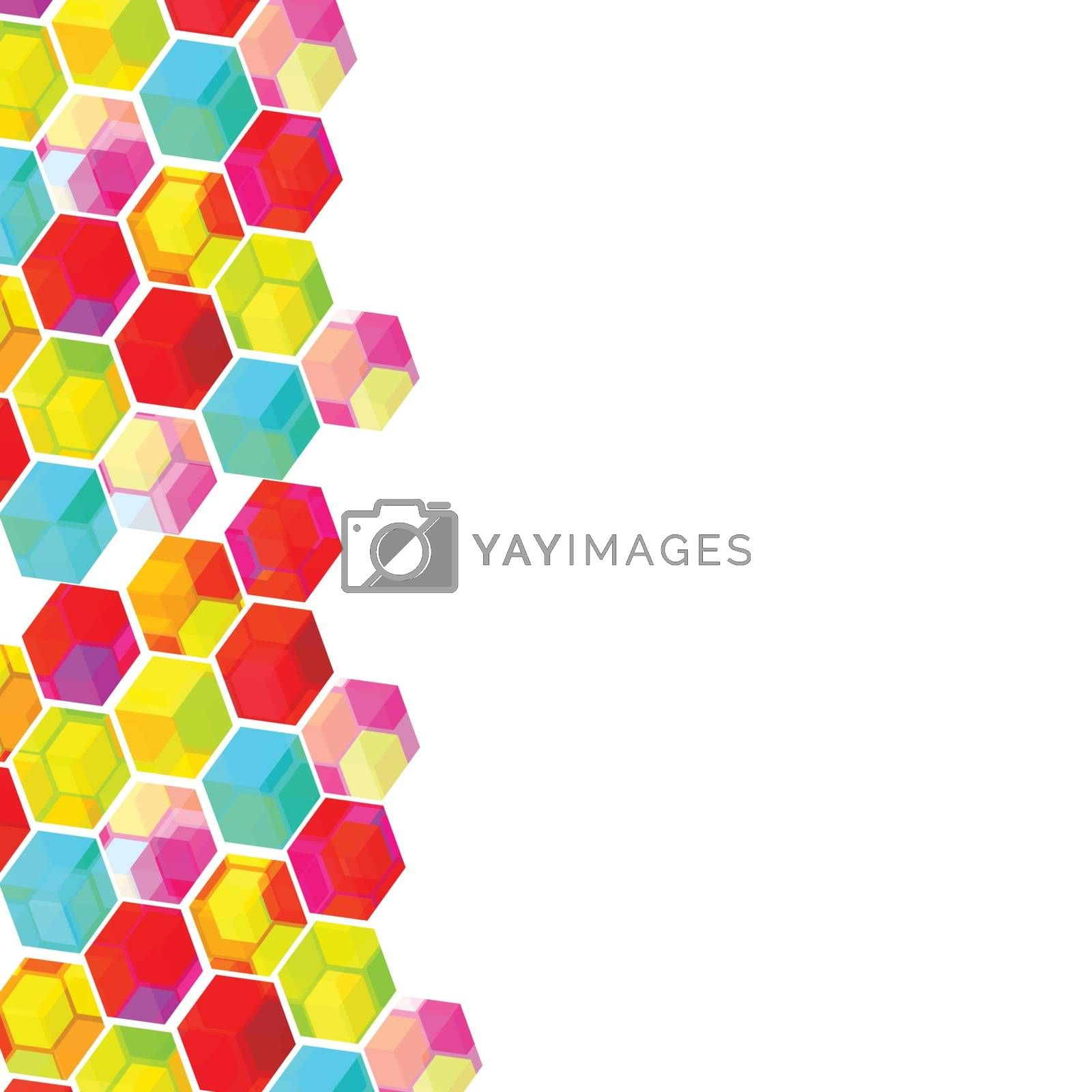 Abstract background with colorful geomatric shapes.