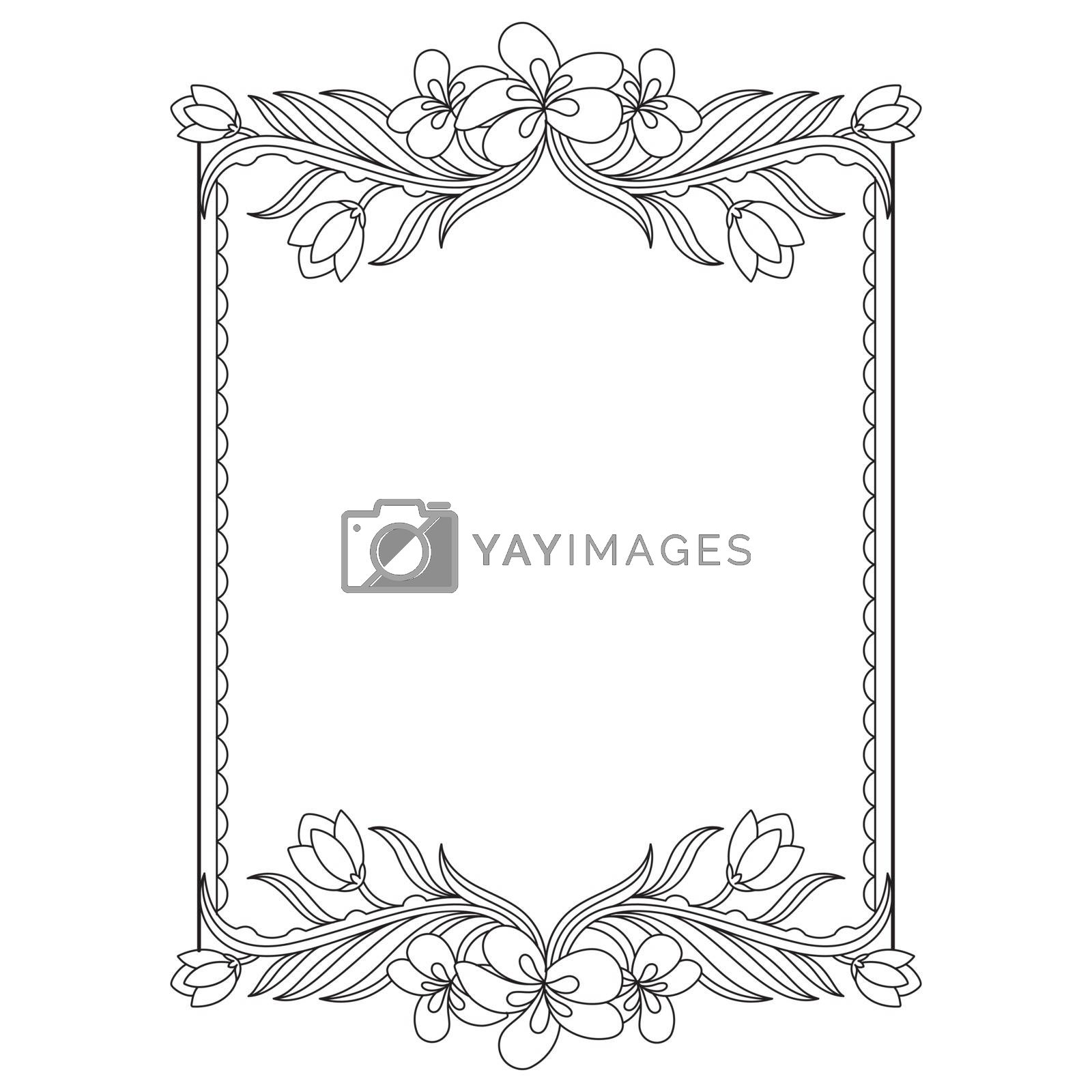 Beautiful floral design decorated frame.