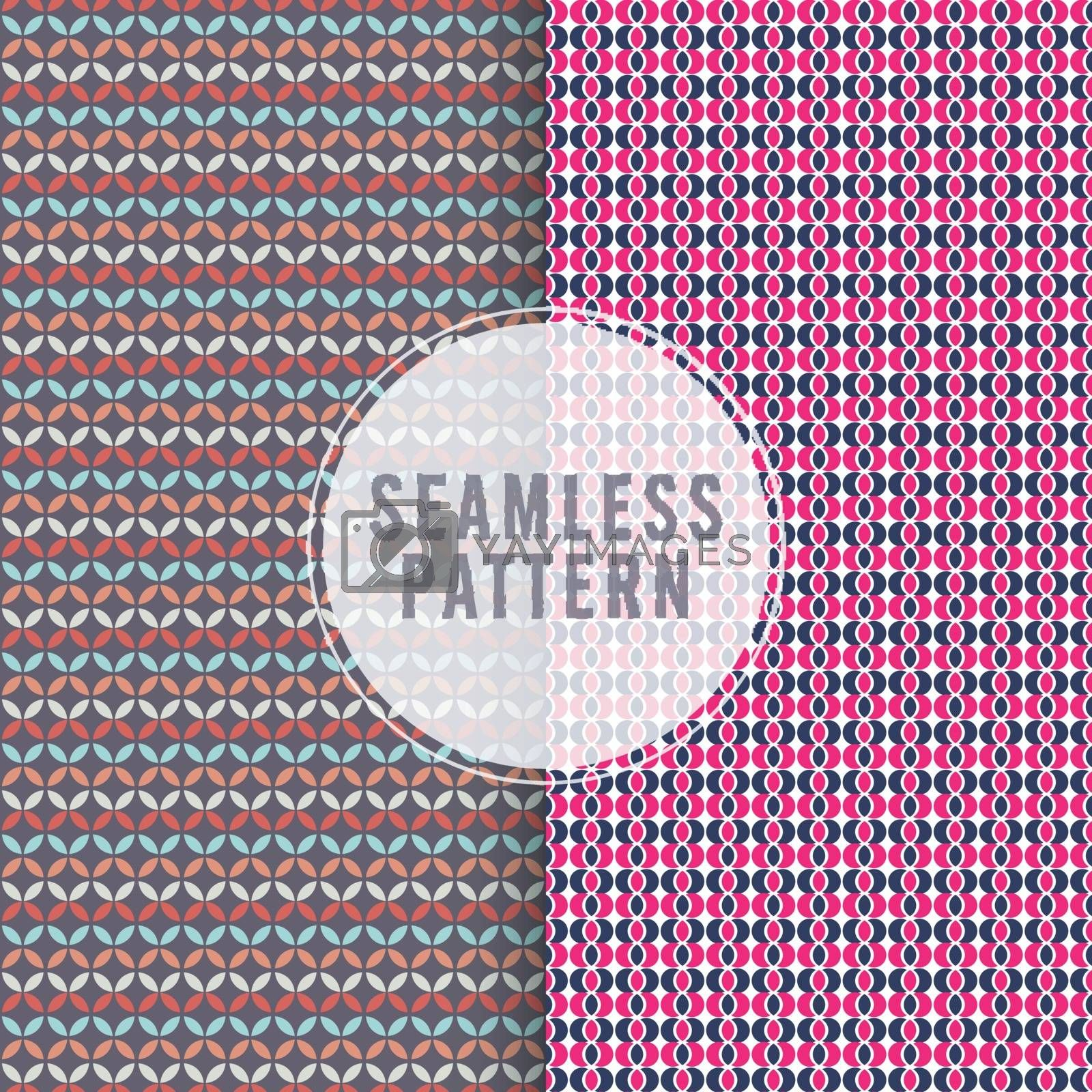 Set of artistic seamless patterns, Creative modern textures, Stylish abstract backgrounds design.