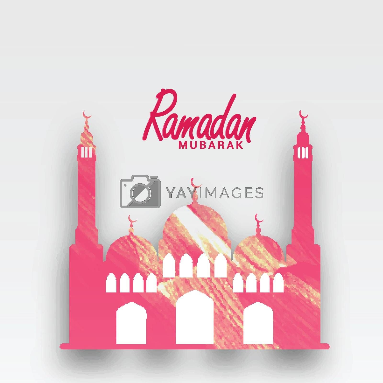 Paper Mosque for Ramadan Mubarak. by aispl