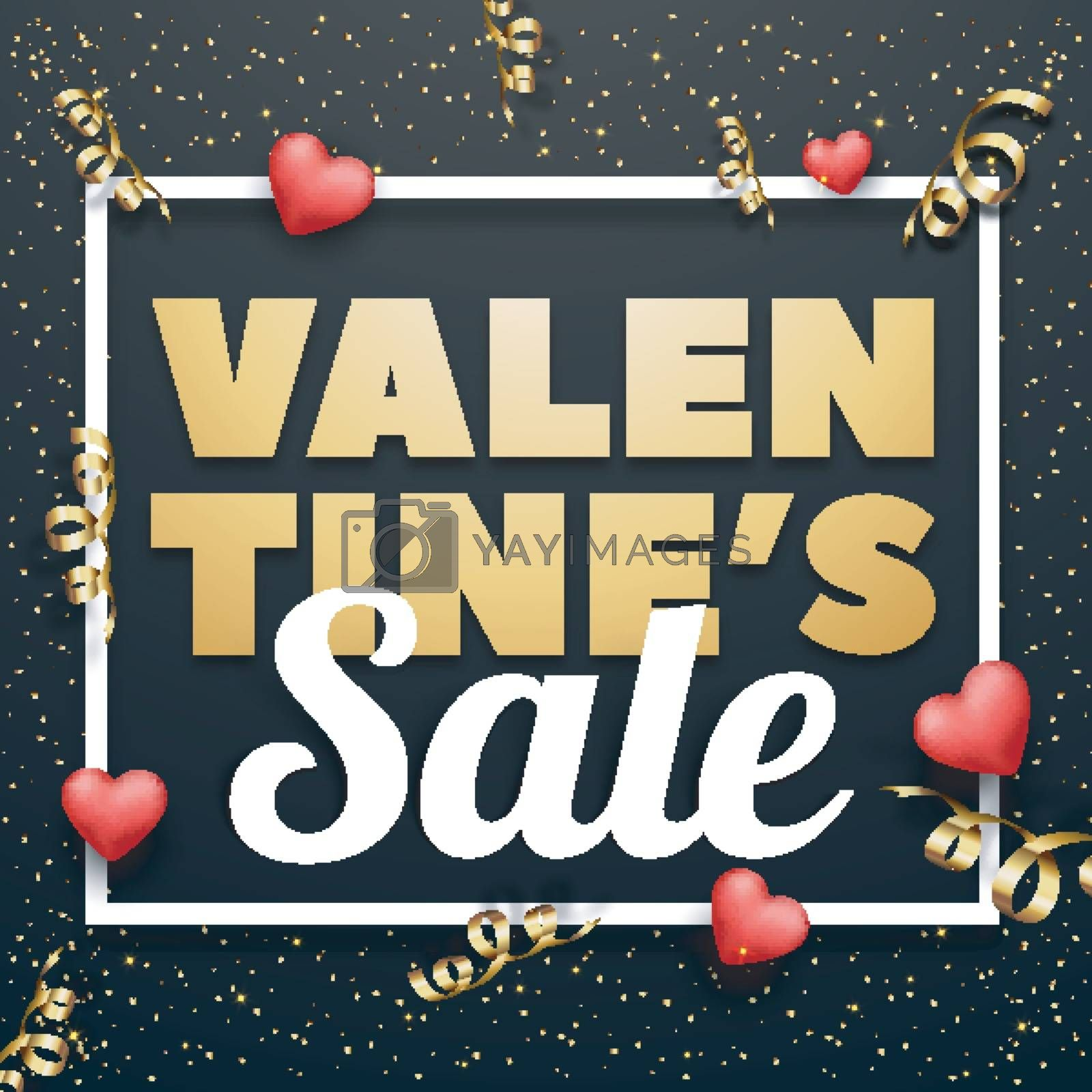 Valentine's Day Sale Poster or Banner. by aispl