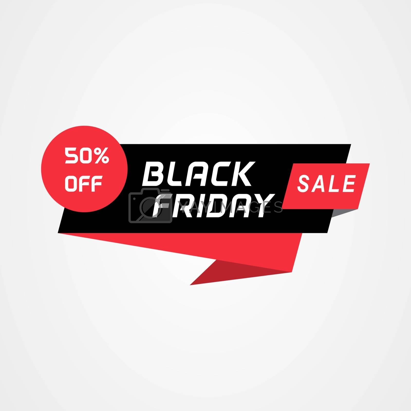 Black friday sale geometric banner. Sale banner element for web or print banner, flyer, brochure.
