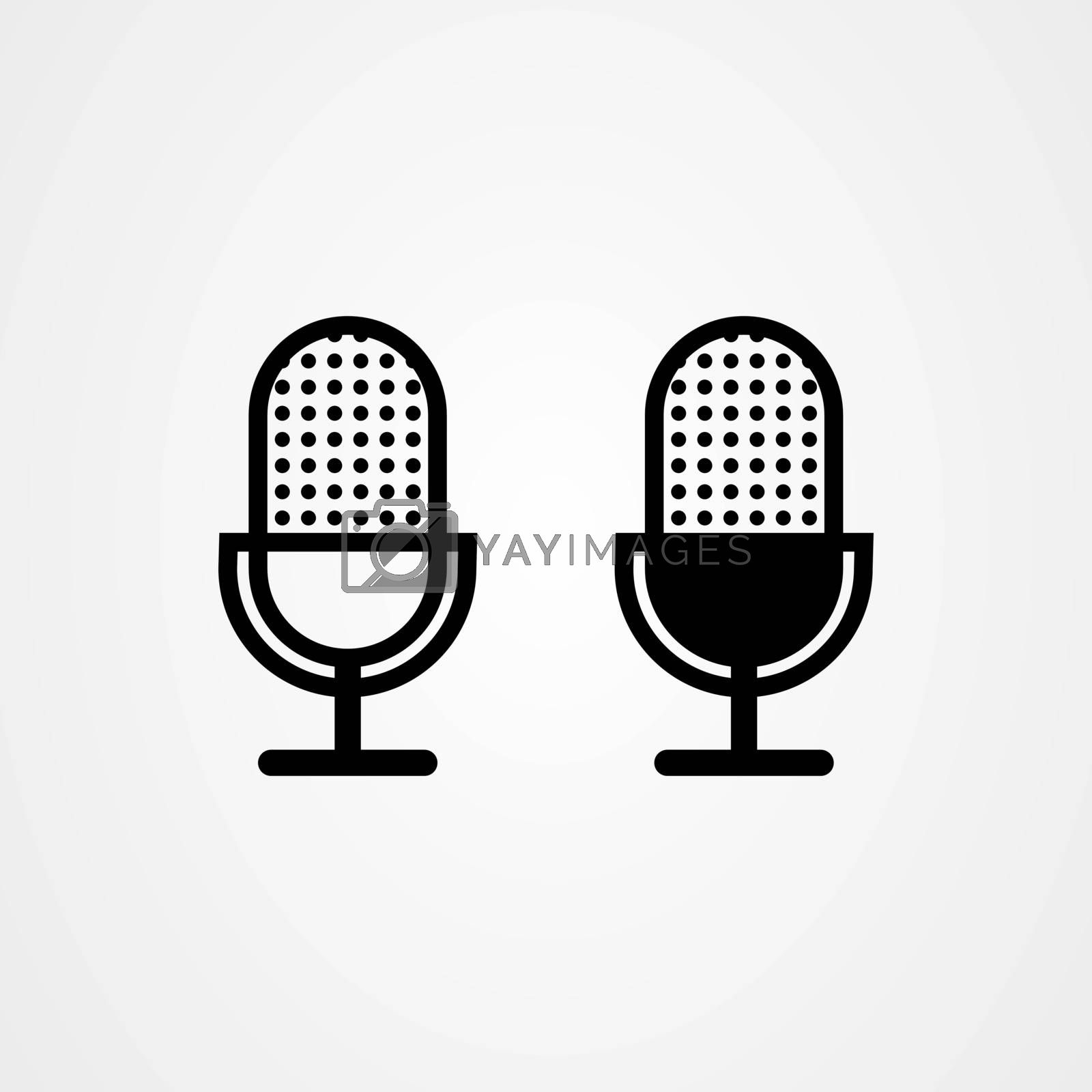 Microphone icon vector. Music logo template.