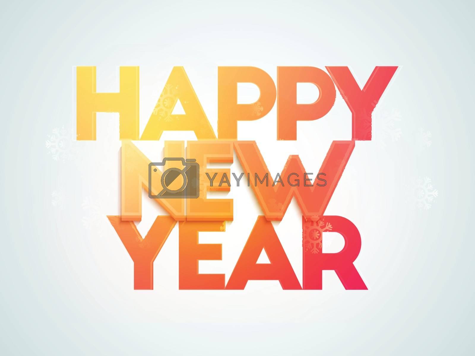 Elegant greeting card design for Happy New Year celebration.