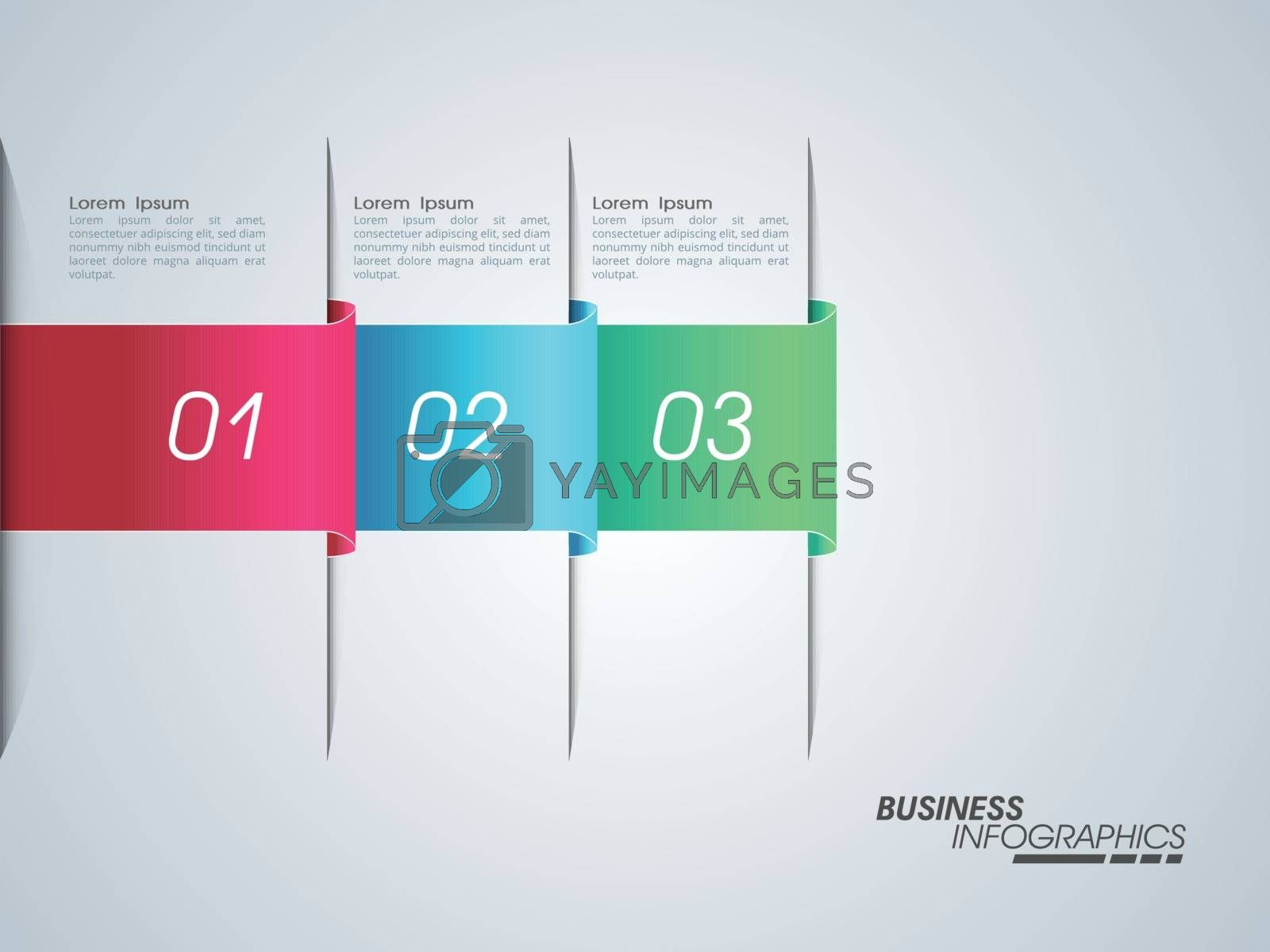 Colorful infographic elements with numbers for your Business presentation.