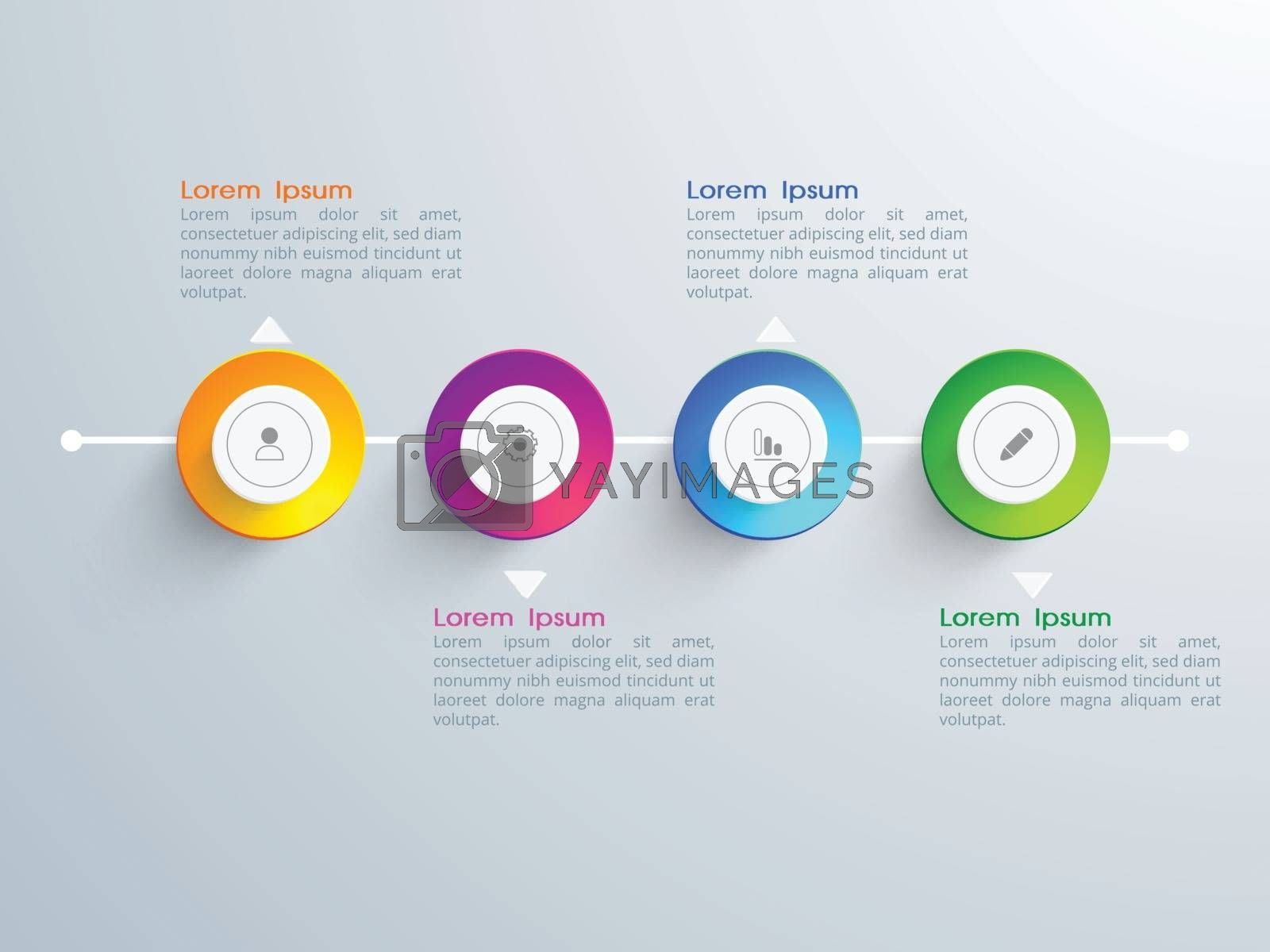 Creative glossy infographic elements for your Business.
