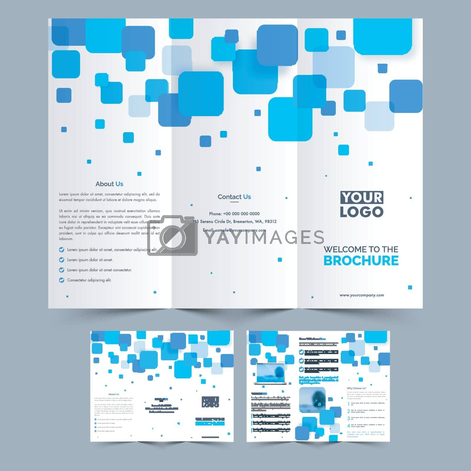 Two Pages Professional Tri Fold Brochure presentation for your Business.