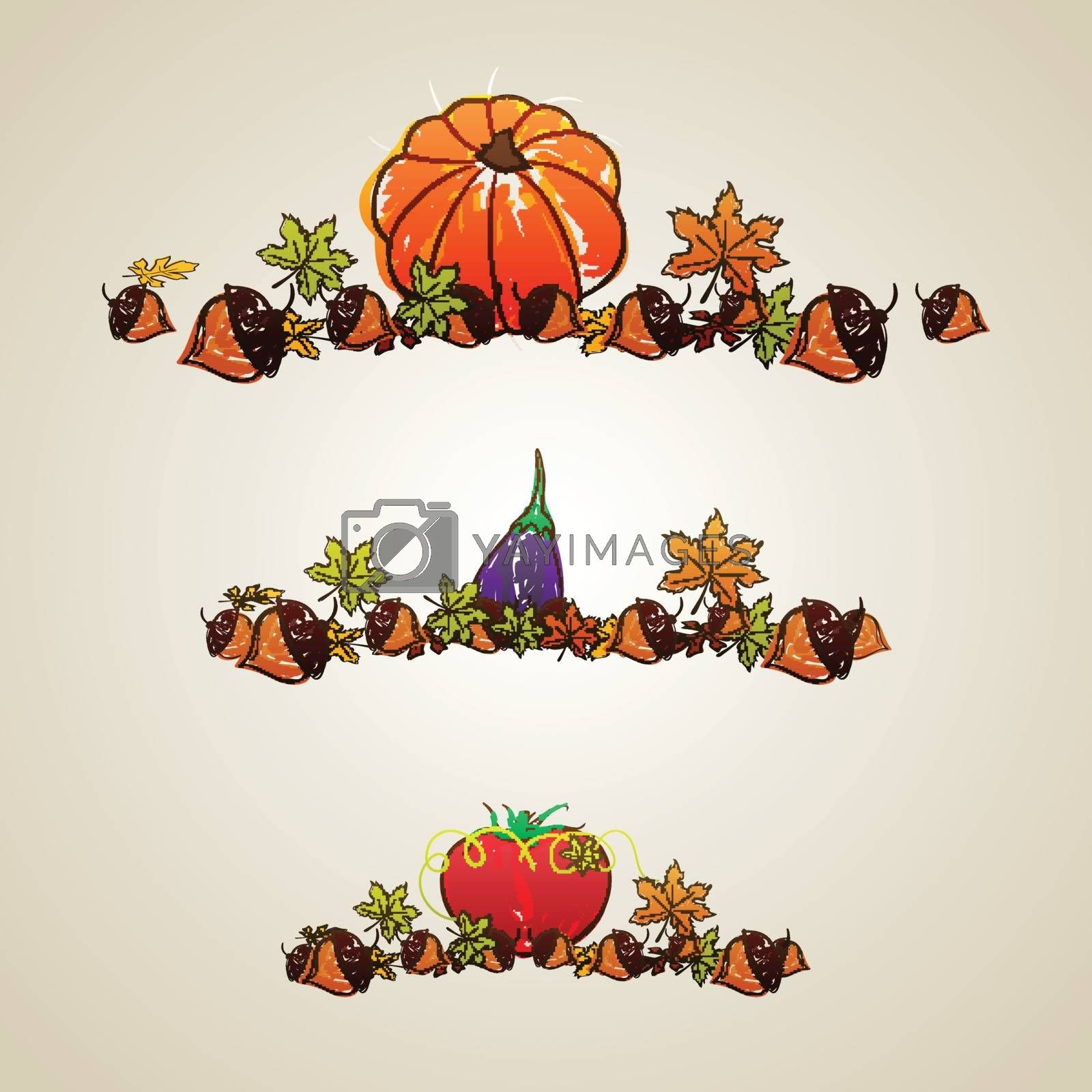 Thanksgiving Day celebration background. by aispl