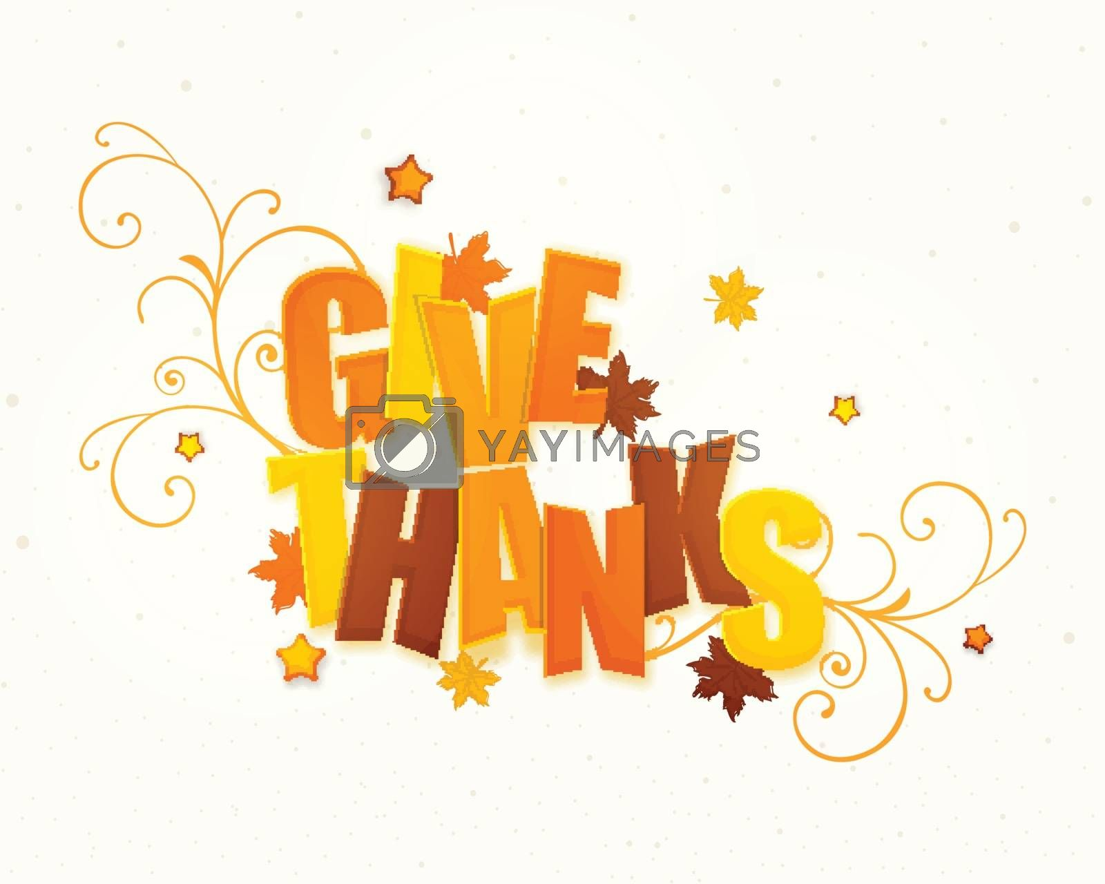 Stylish Text for Thanksgiving Day celebration. by aispl