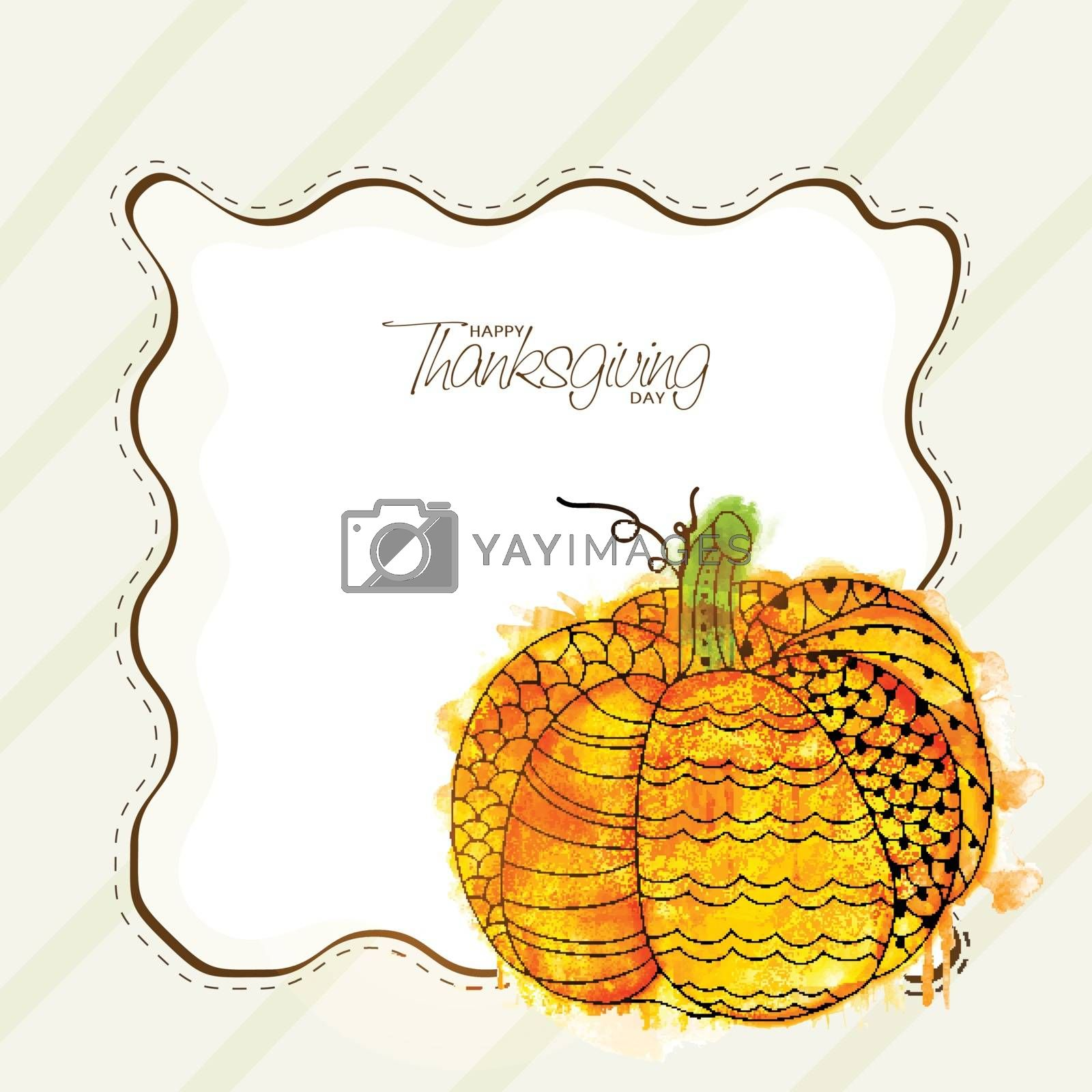 Greeting Card for Thanksgiving Day celebration. by aispl