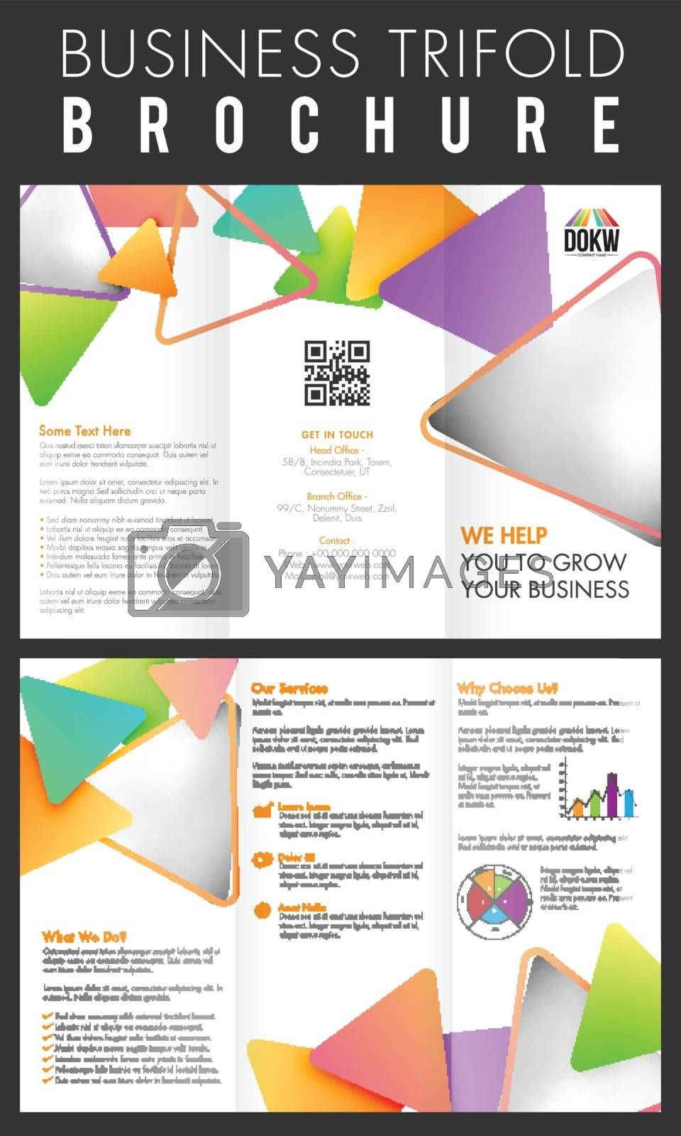 Business Three Fold Brochure layout. by aispl