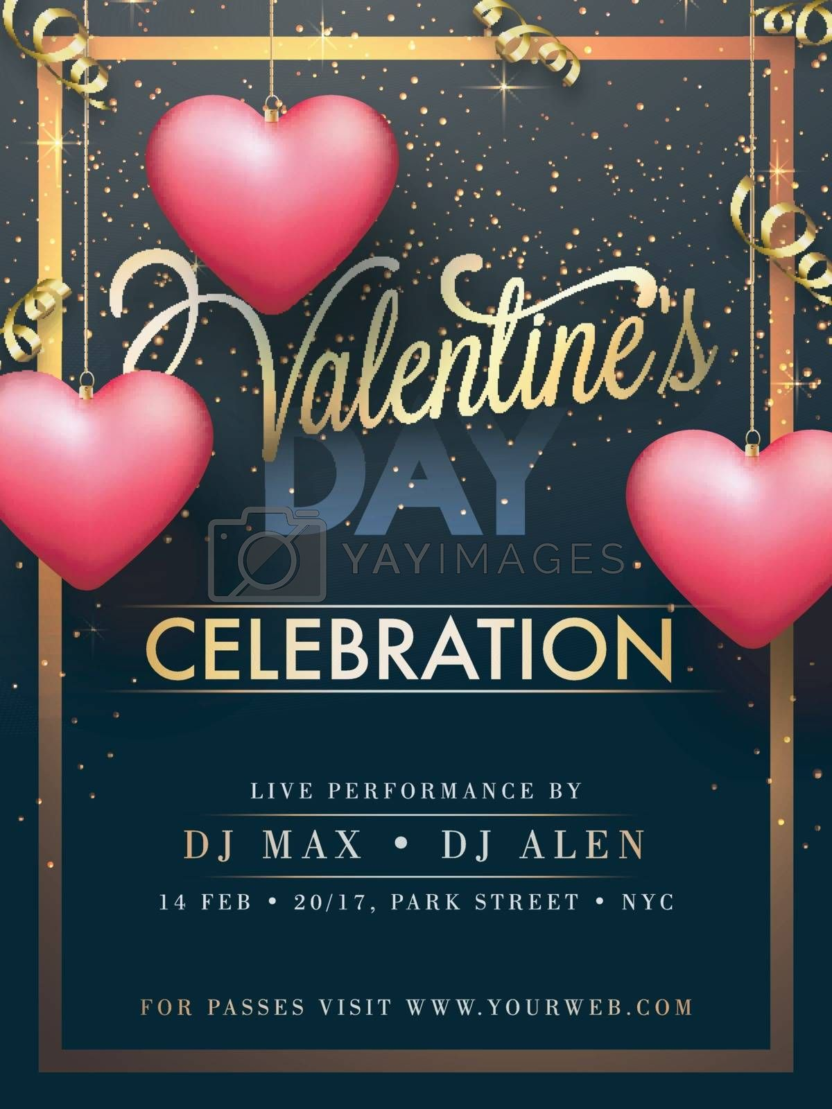 Valentine's Day celebration Party Banner design. by aispl