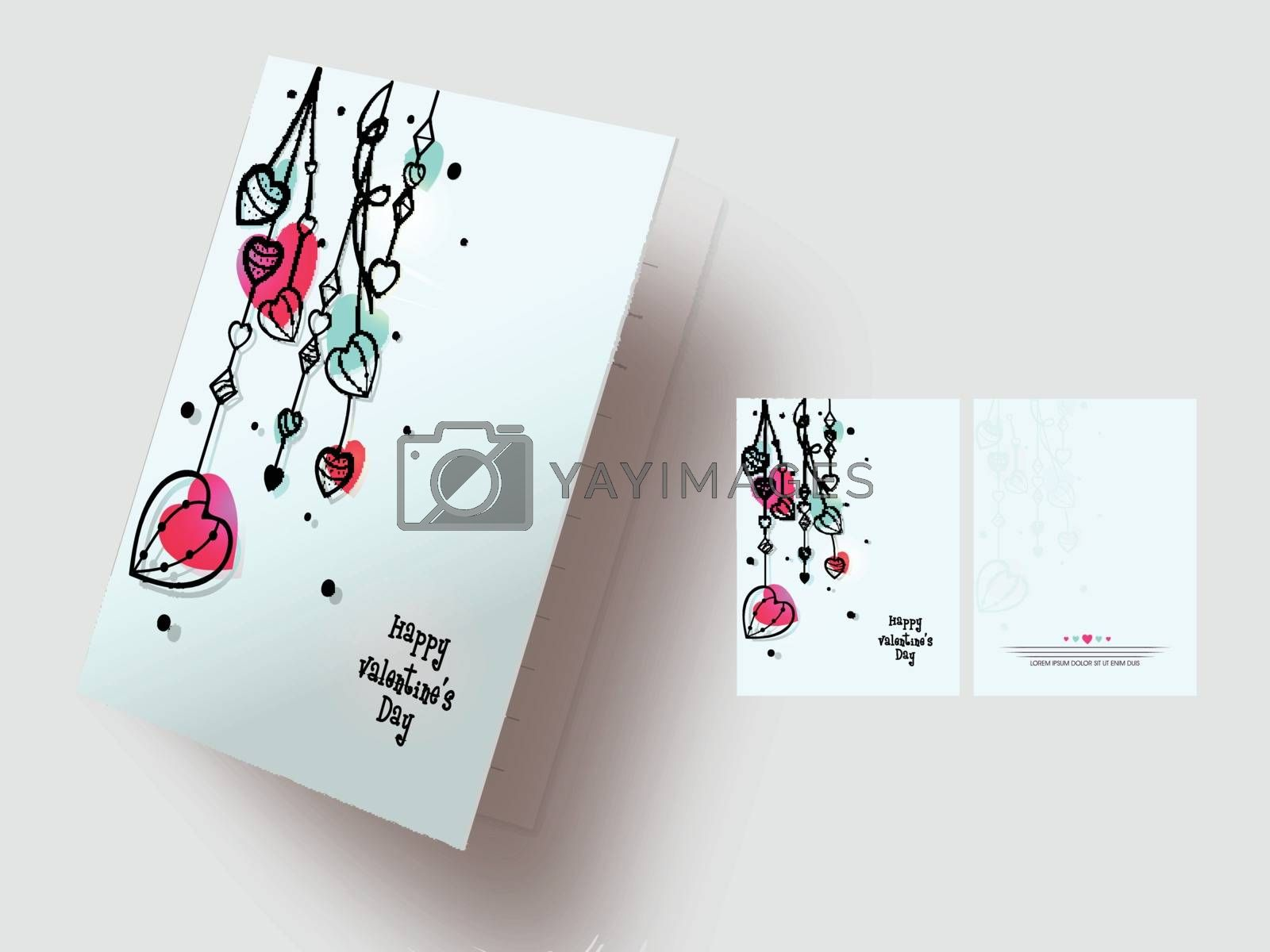 Creative hearts decorated greeting card design for Happy Valentine's Day Celebration.