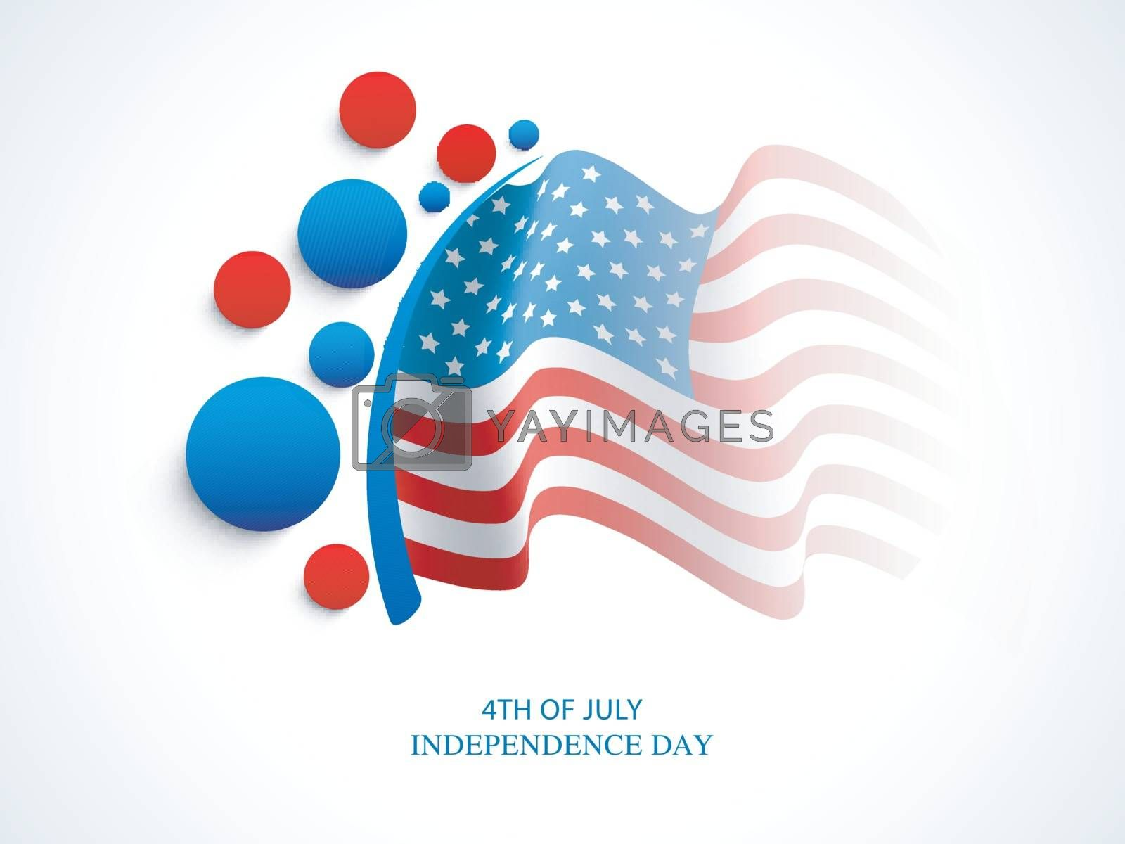 Waving American National Flag background for 4th of July, Independence Day celebration.