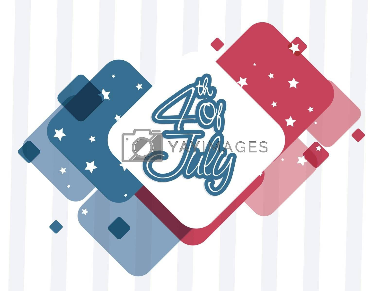 American Flag colors abstract background for 4th of July, Independence Day concept.
