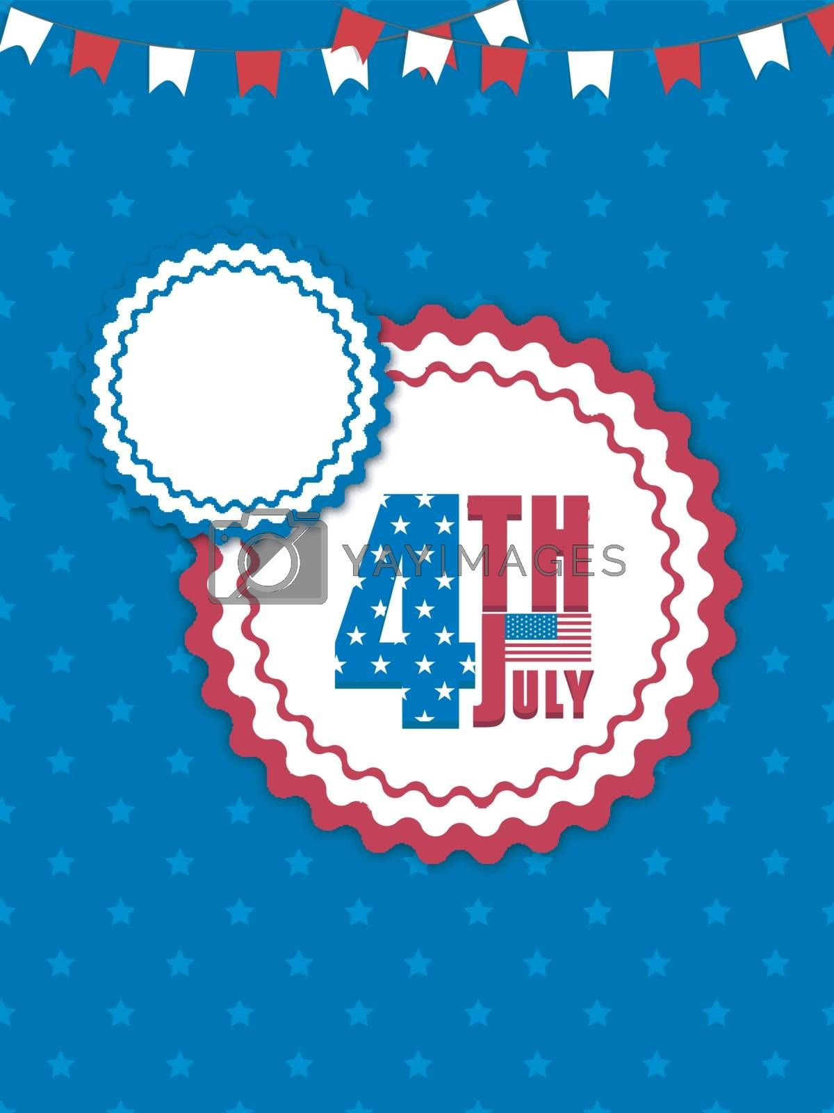 Creative Template, Banner or Flyer design for 4th of July, American Independence Day celebration.