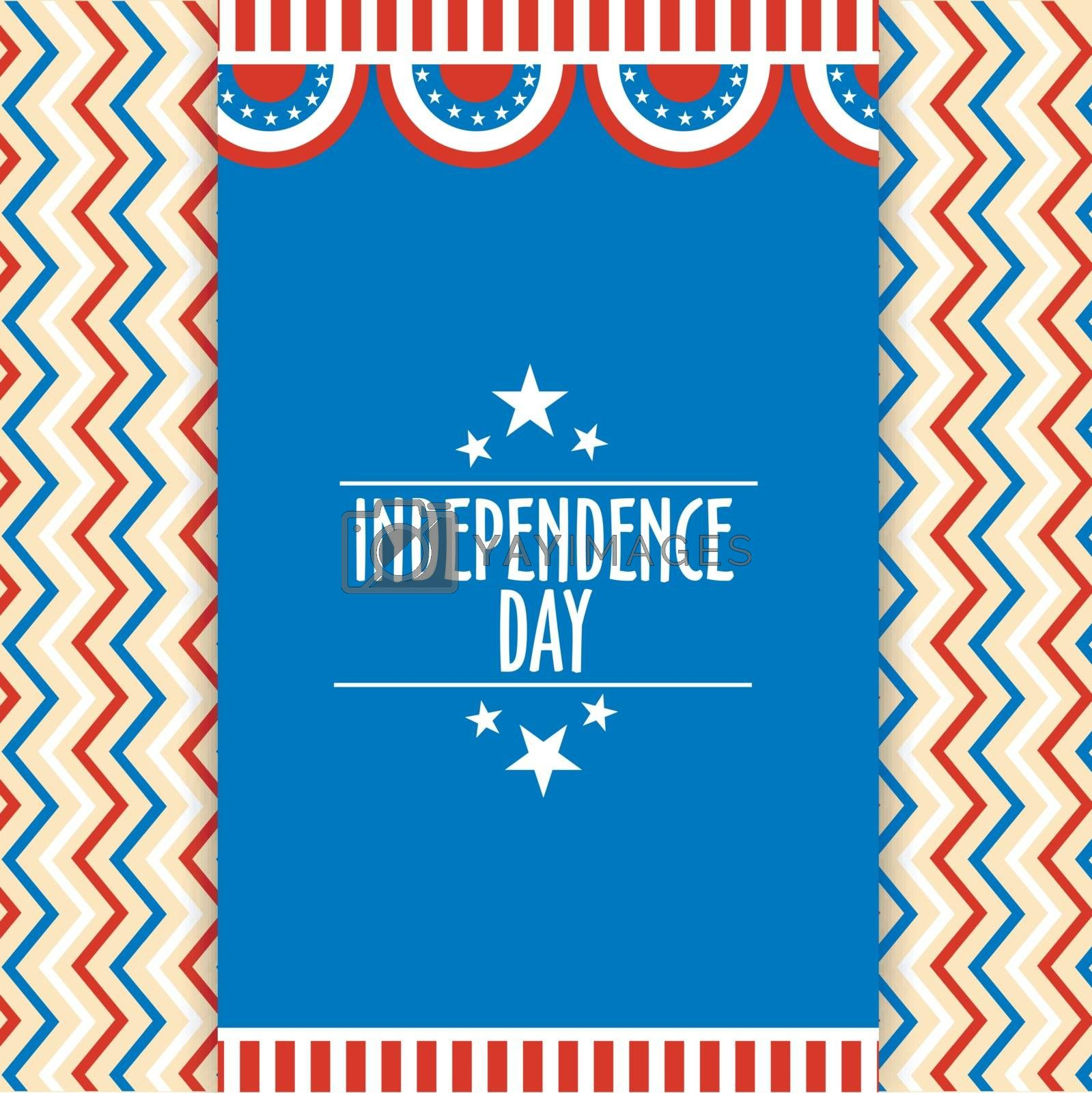 American Independence Day poster, banner. by aispl