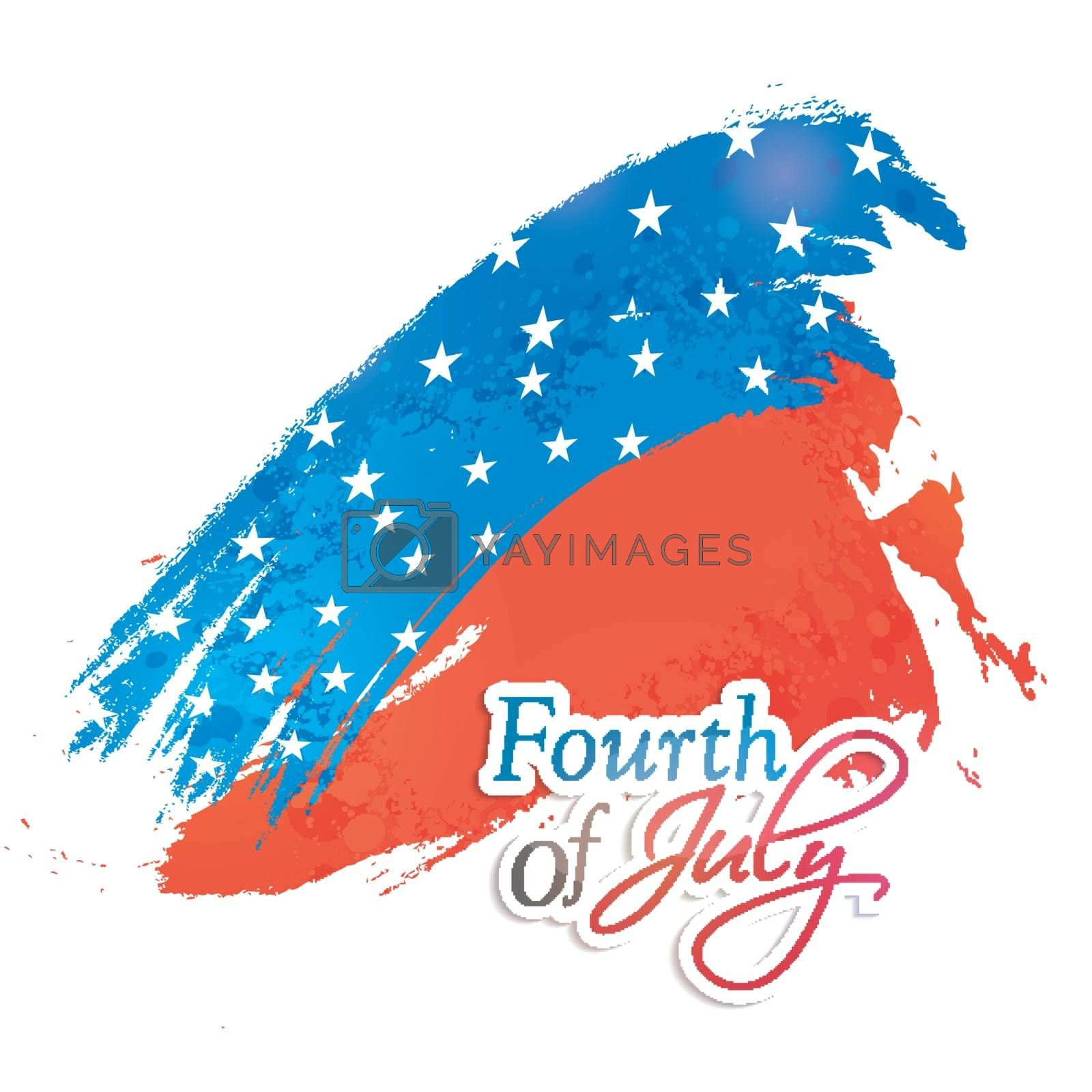American Flag Color brush strokes background for Fourth of July, Independence Day celebration.