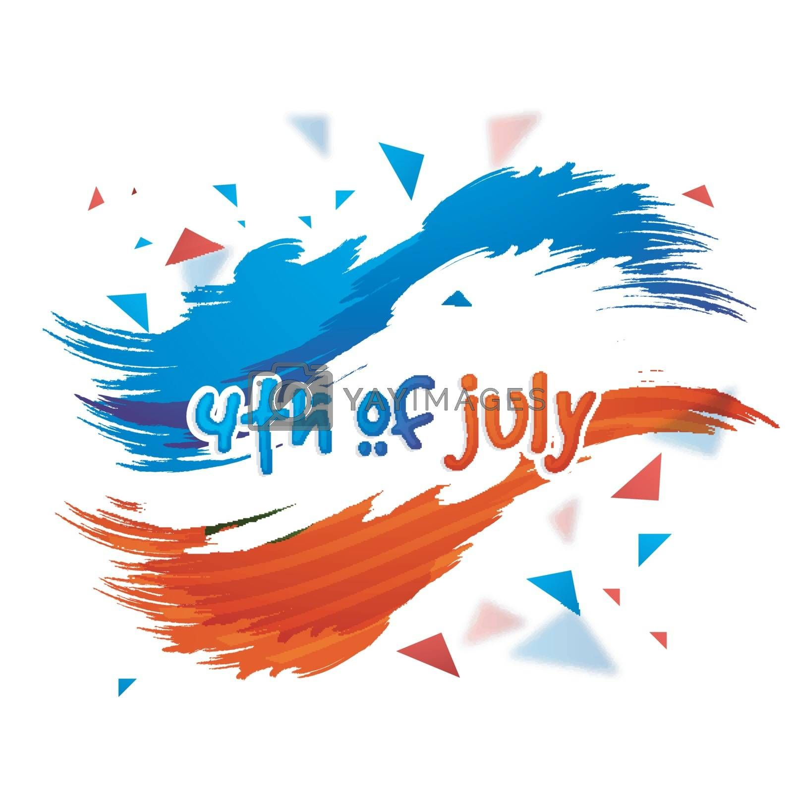 4th of July, American Independence Day celebration background with abstract watercolor brush strokes.