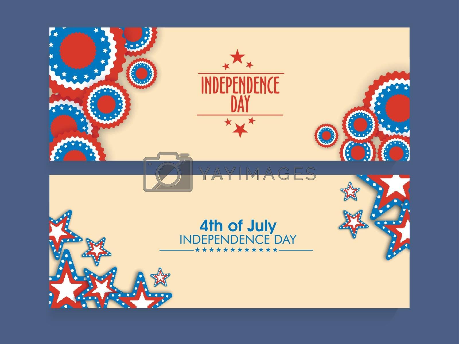 Website header or banner set for 4th of July celebration. by aispl