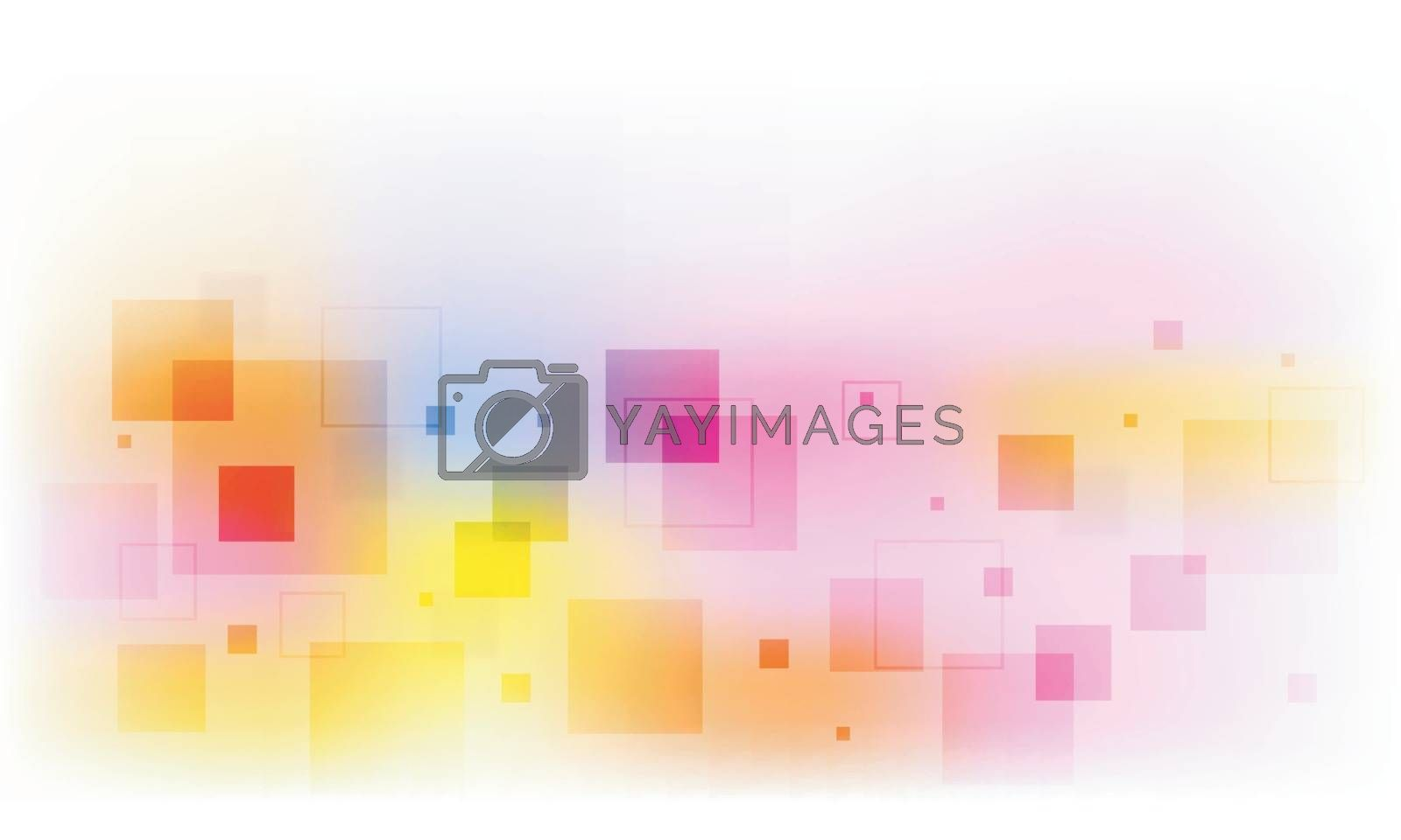 Colorful abstract geometric background with squares.
