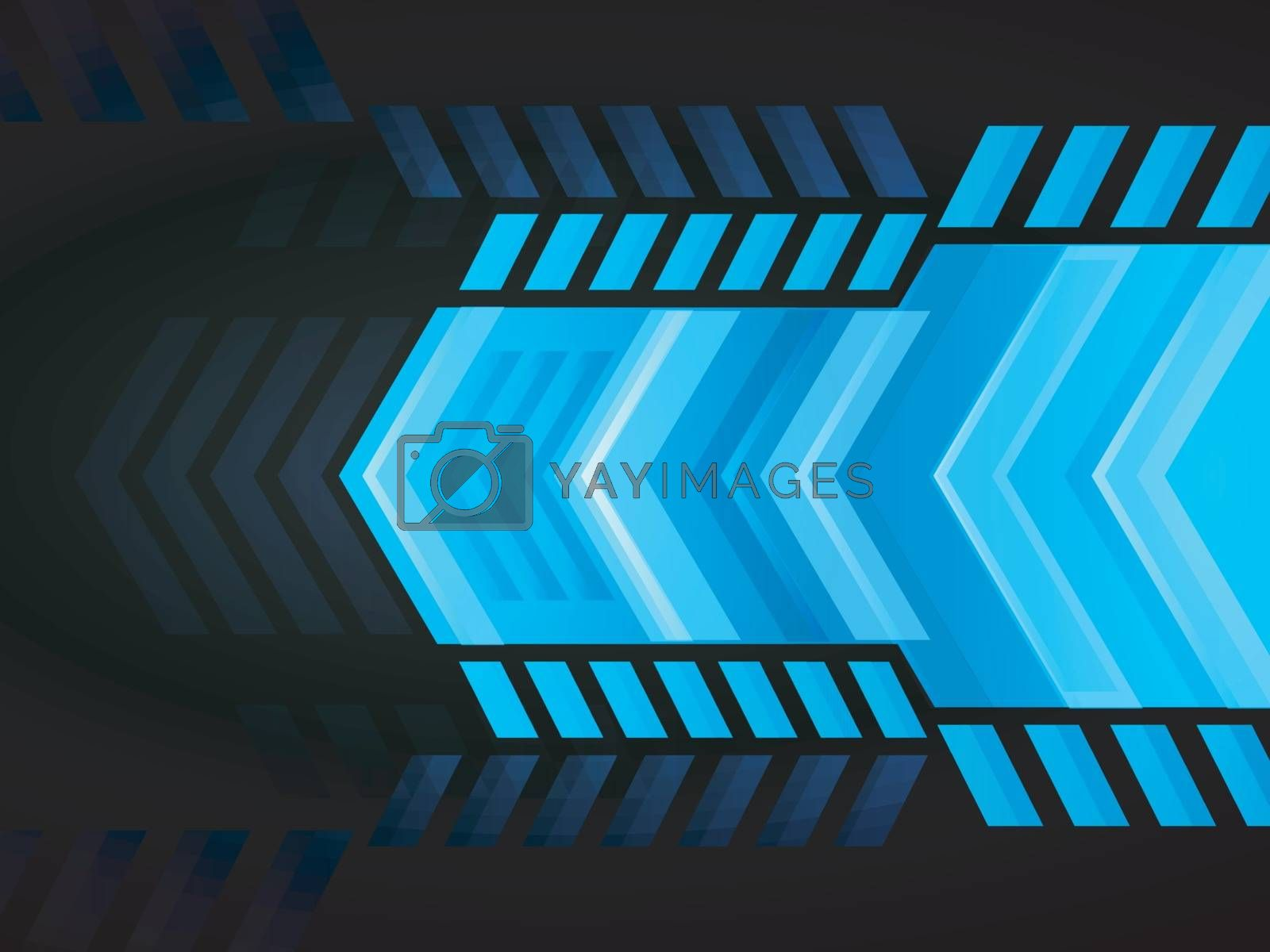 Abstract geometric background with creative shiny arrow.