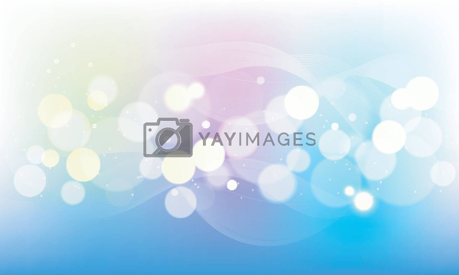 Modern colorful abstract defocused bokeh background with waves.