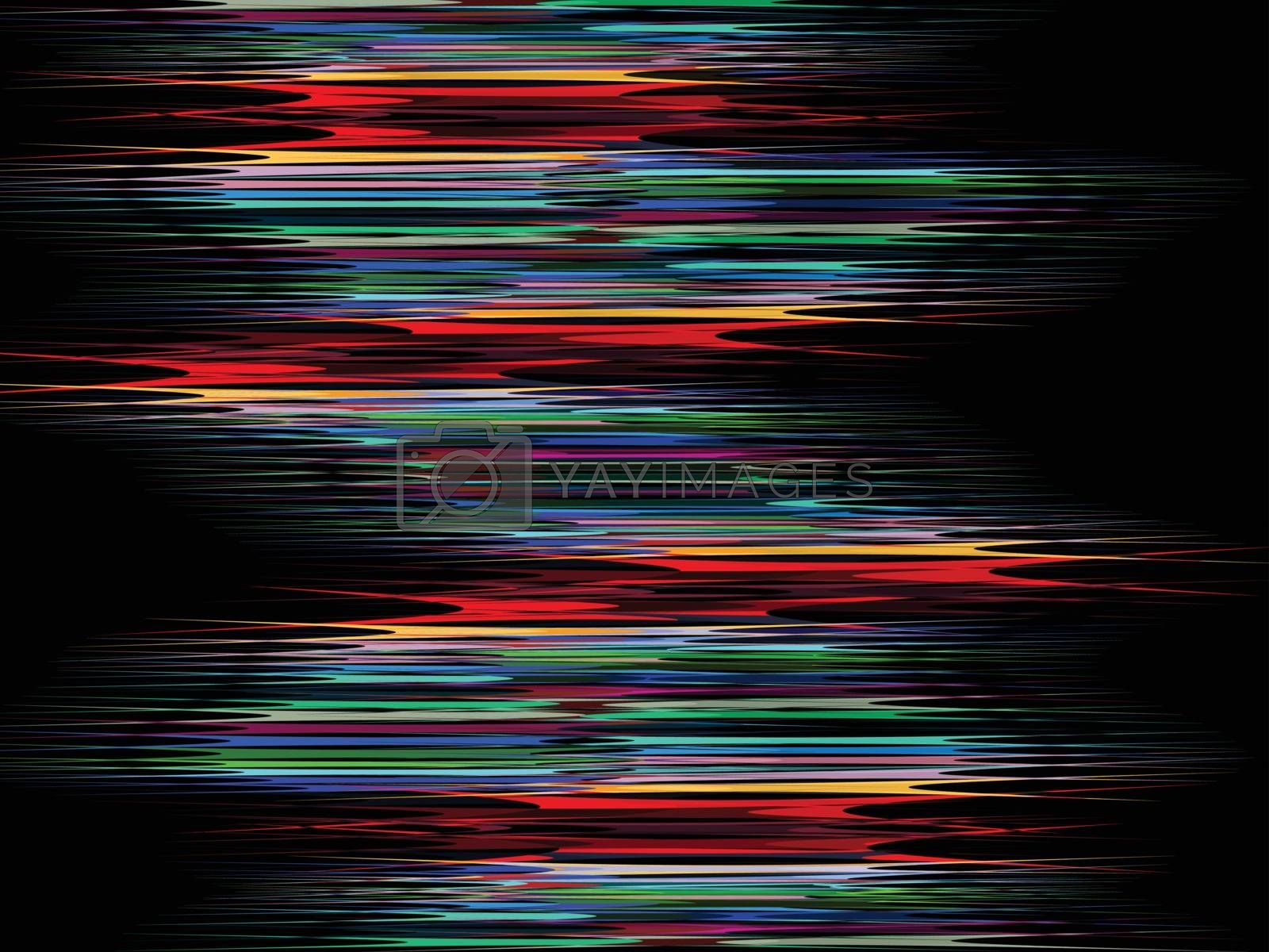 Modern glitched abstract background with colorful lines.