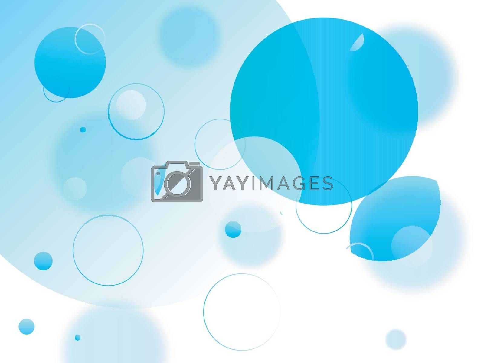 Abstract geometric background with sky blue circles.