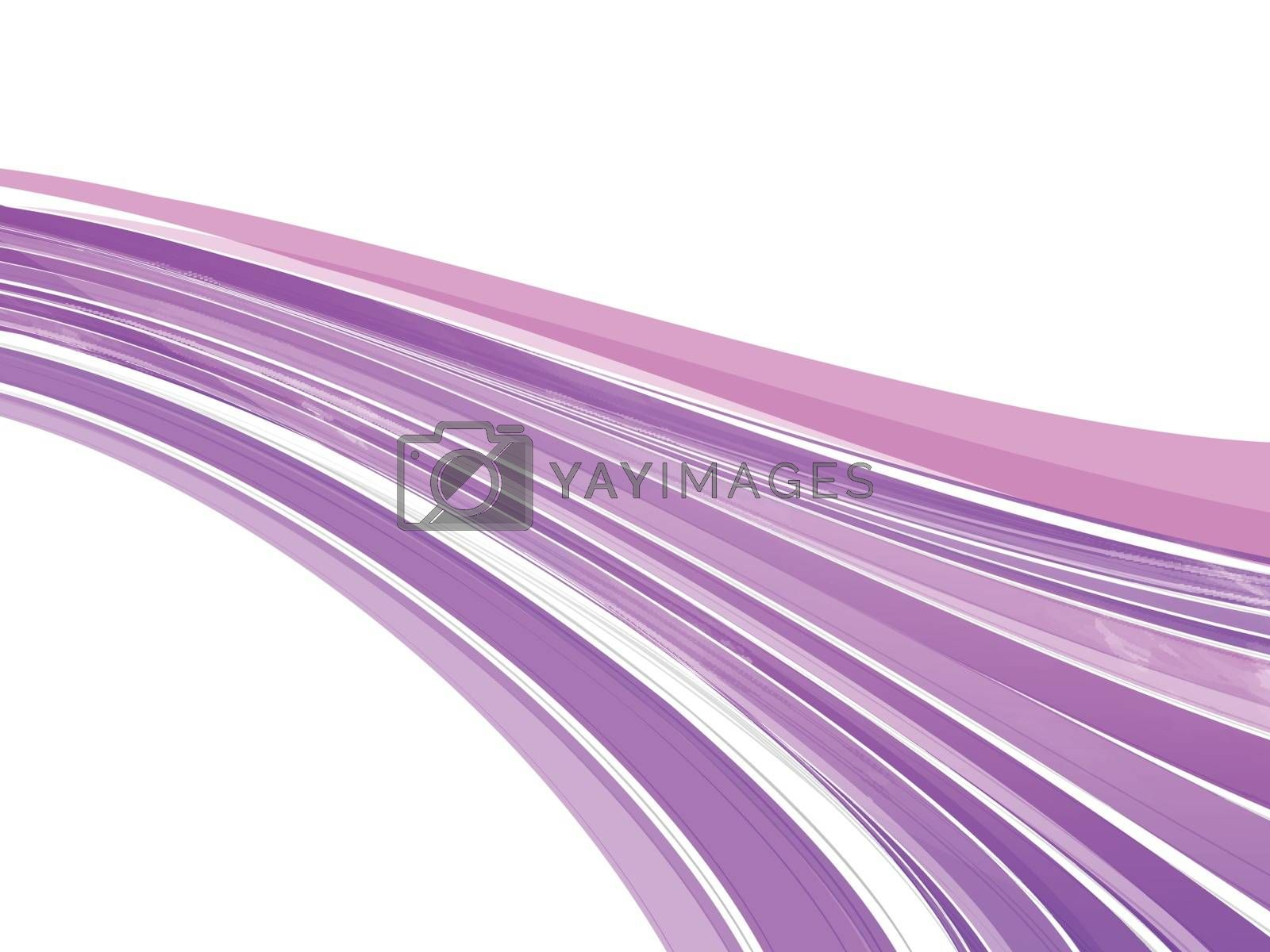 Purple waves on white background.