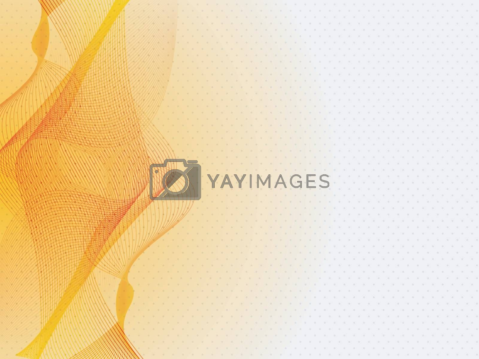 Modern abstract background with orange waves.