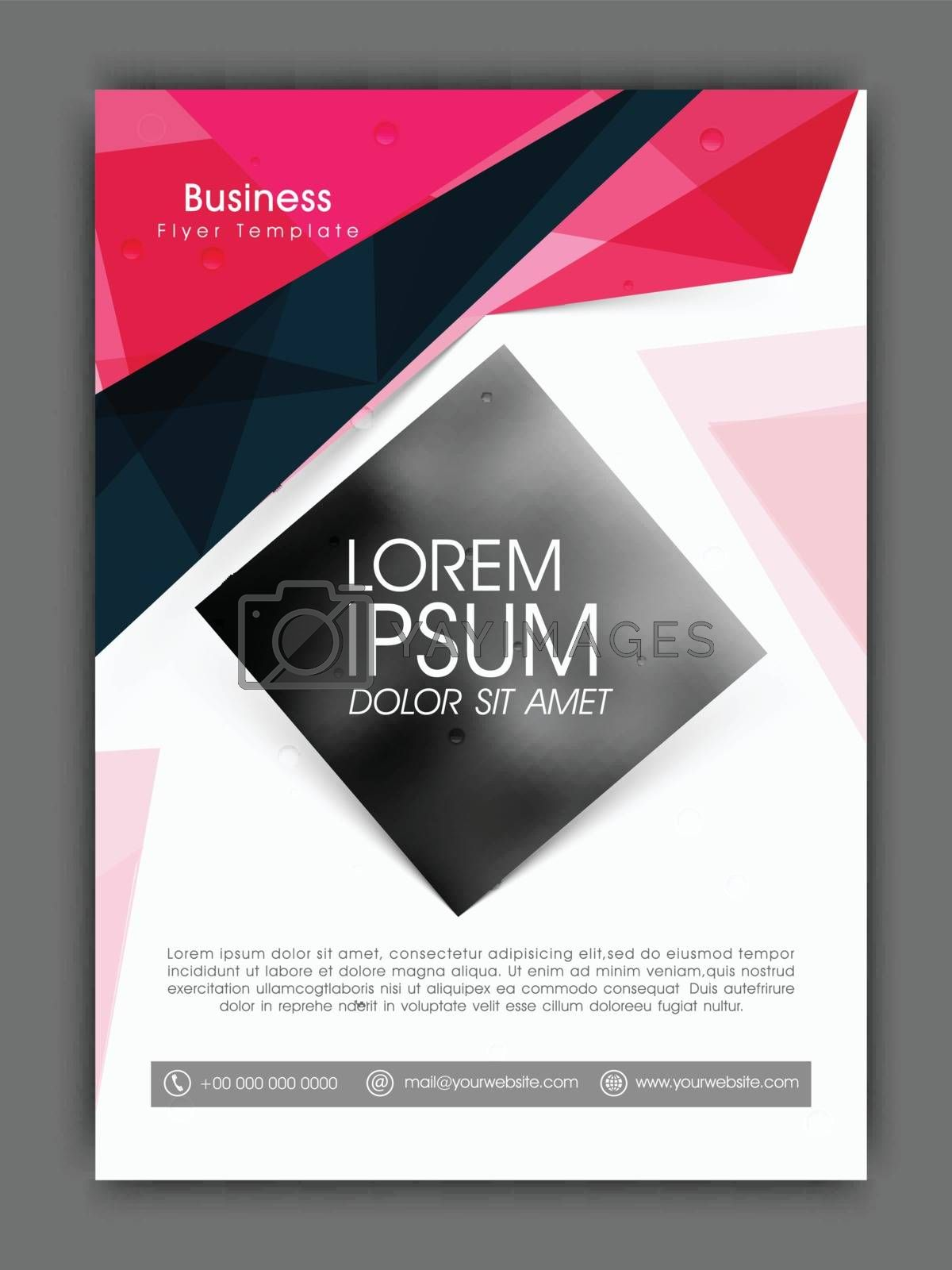 Creative professional Flyer, Template or Brochure presentation with abstract design.
