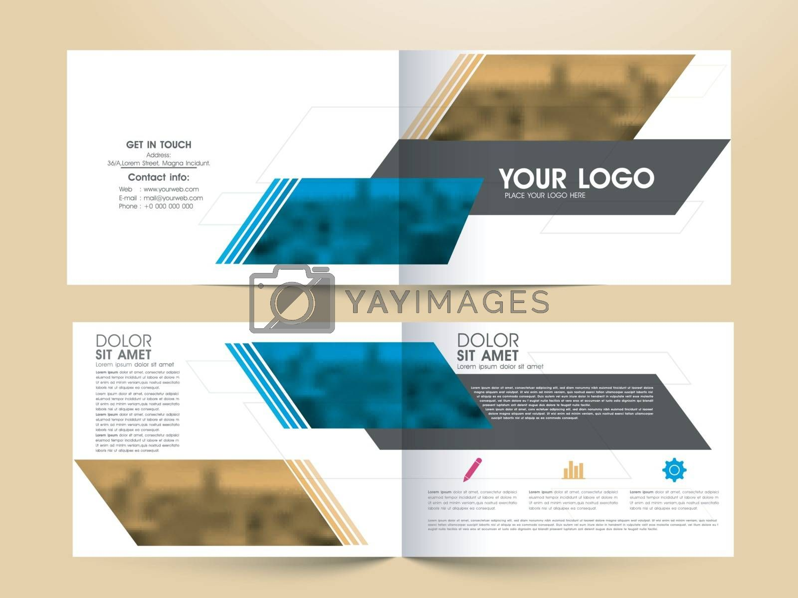 Creative Professional Business Brochure Set with Front, Inner or Back Pages Presentation.