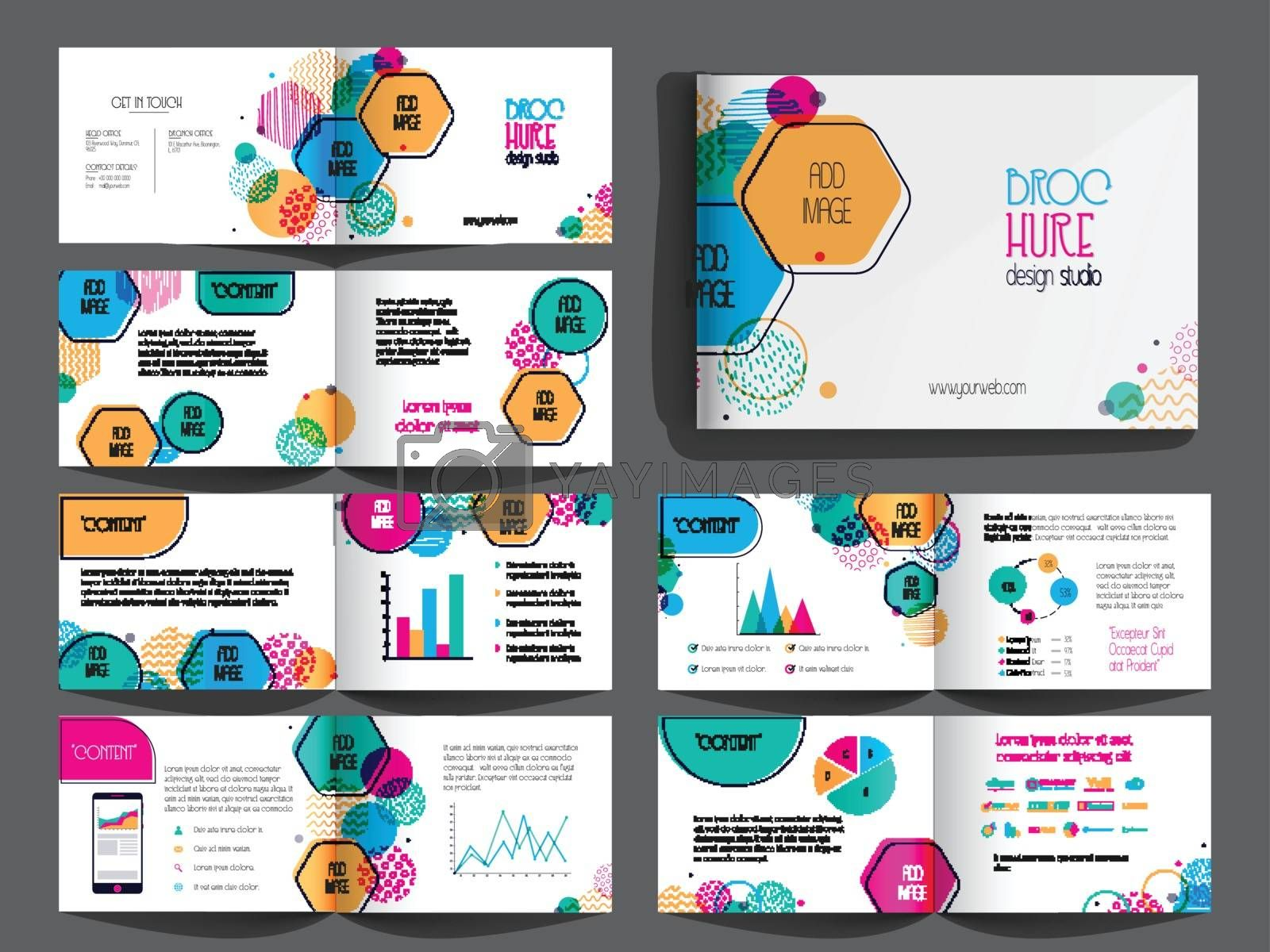Professional Brochure, Leaflet design pack with infographic elements and space to add your images.
