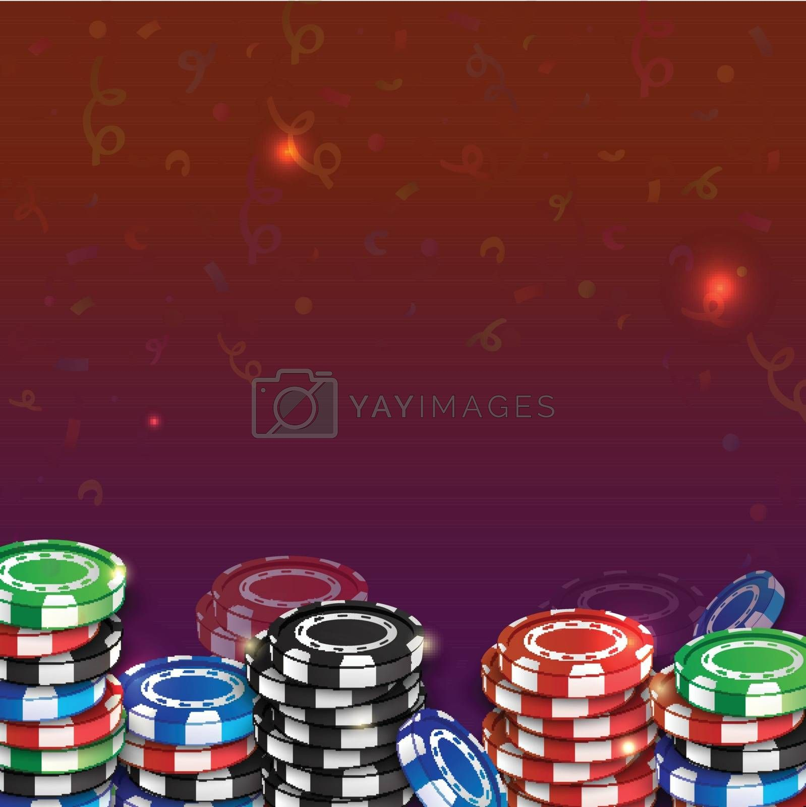Gambling Design Background, Casino Concept.