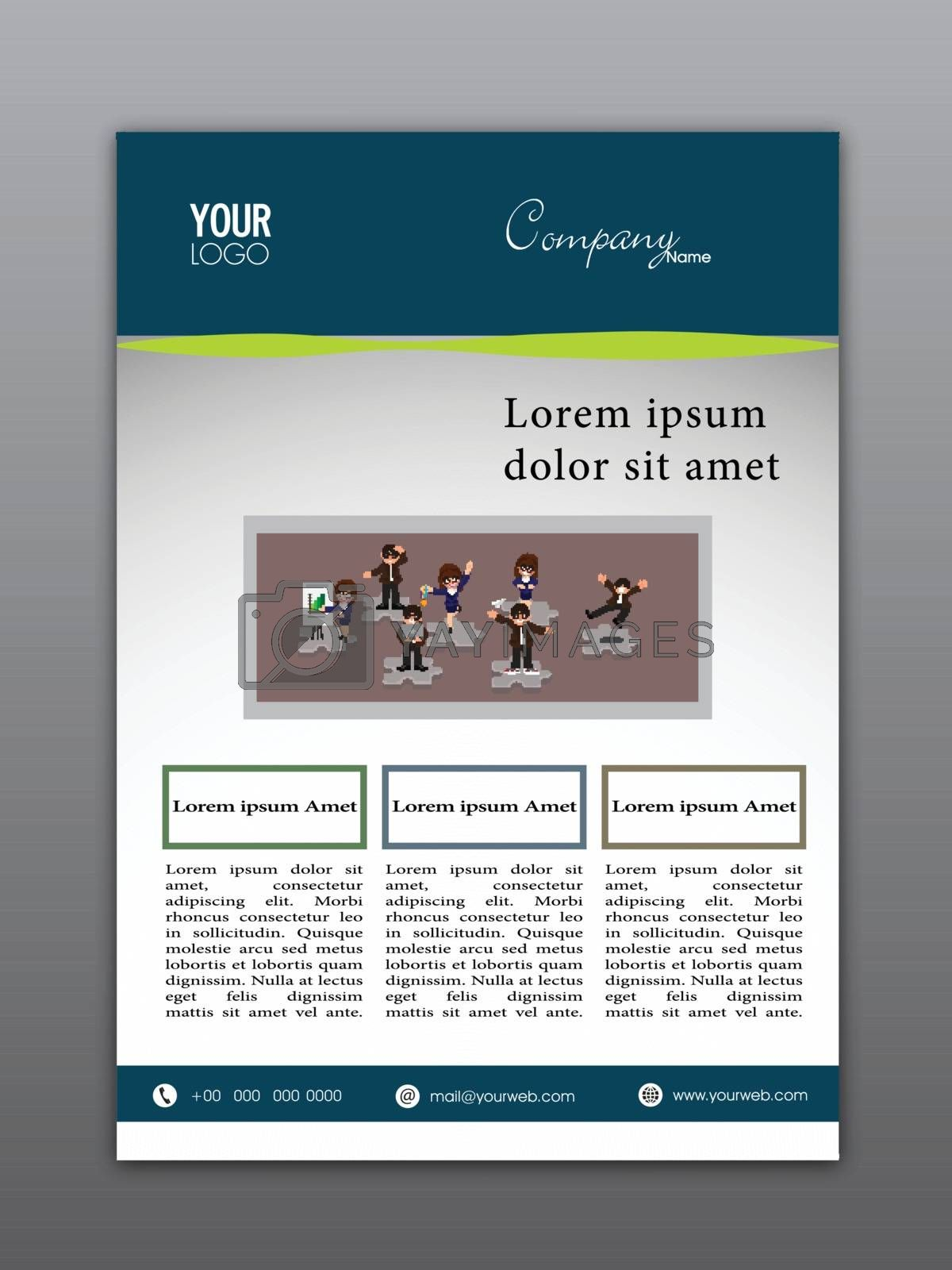 Professional Flyer, Template or Corporate Banner design for Business concept.
