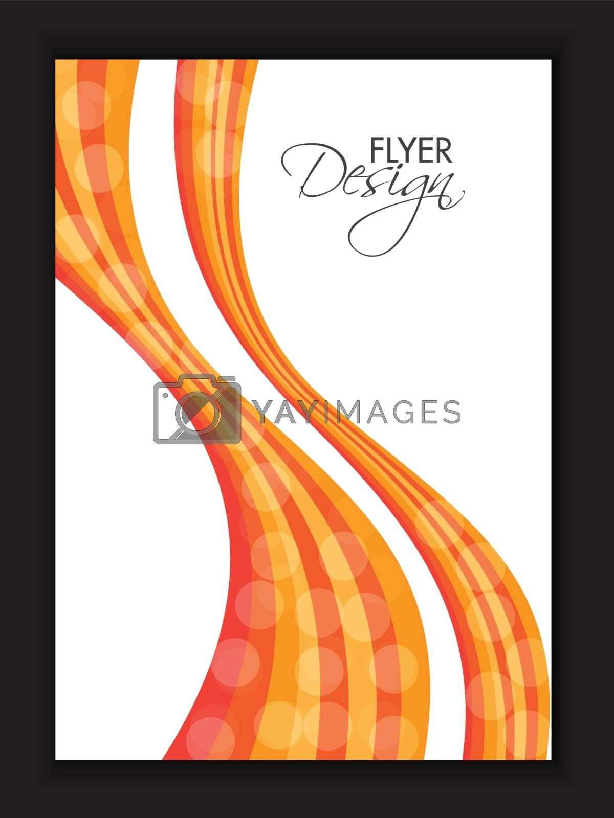 Abstract waves decorated, Flyer, Template design for Business concept.