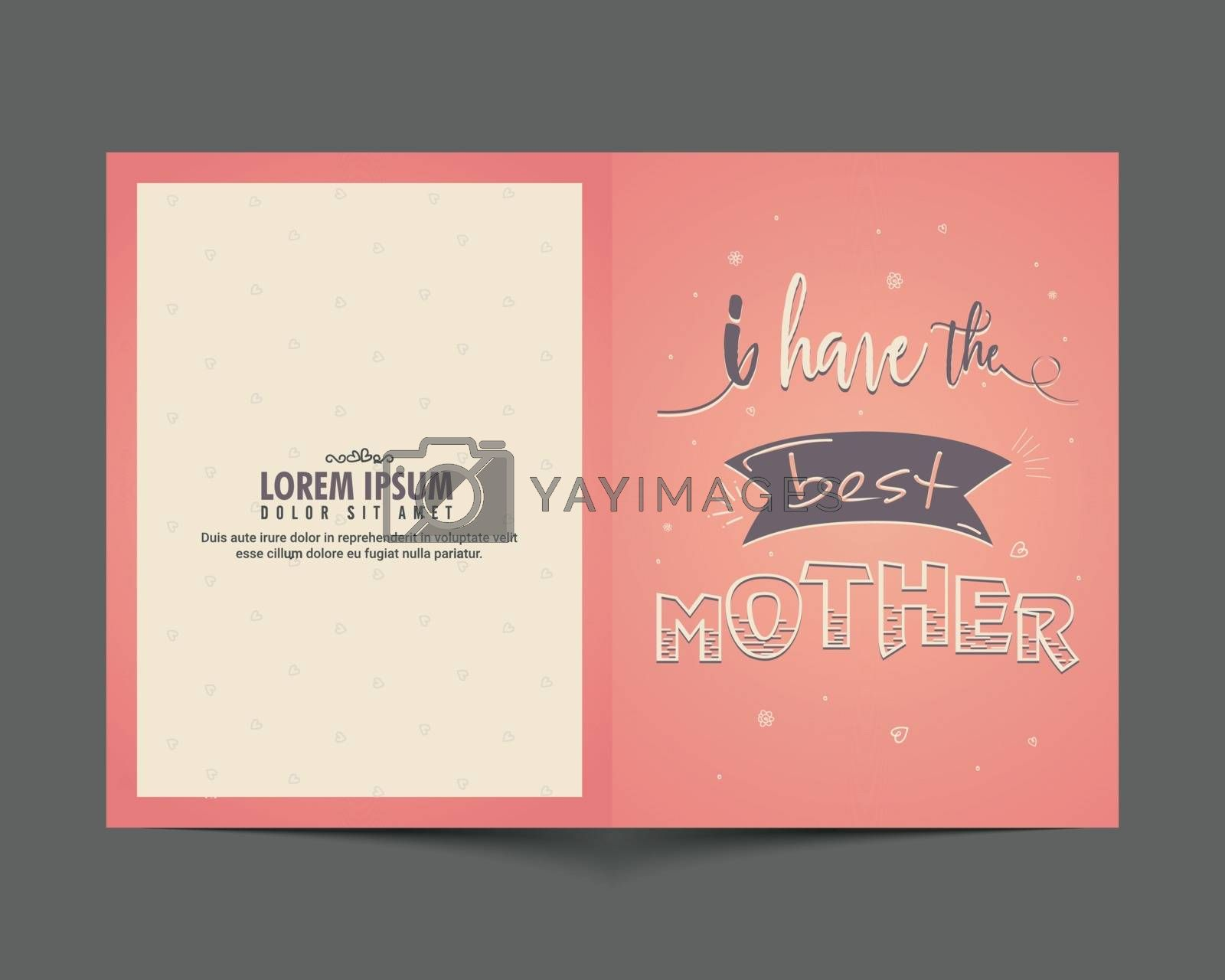 Greeting Card for Happy Mother's Day celebration. by aispl