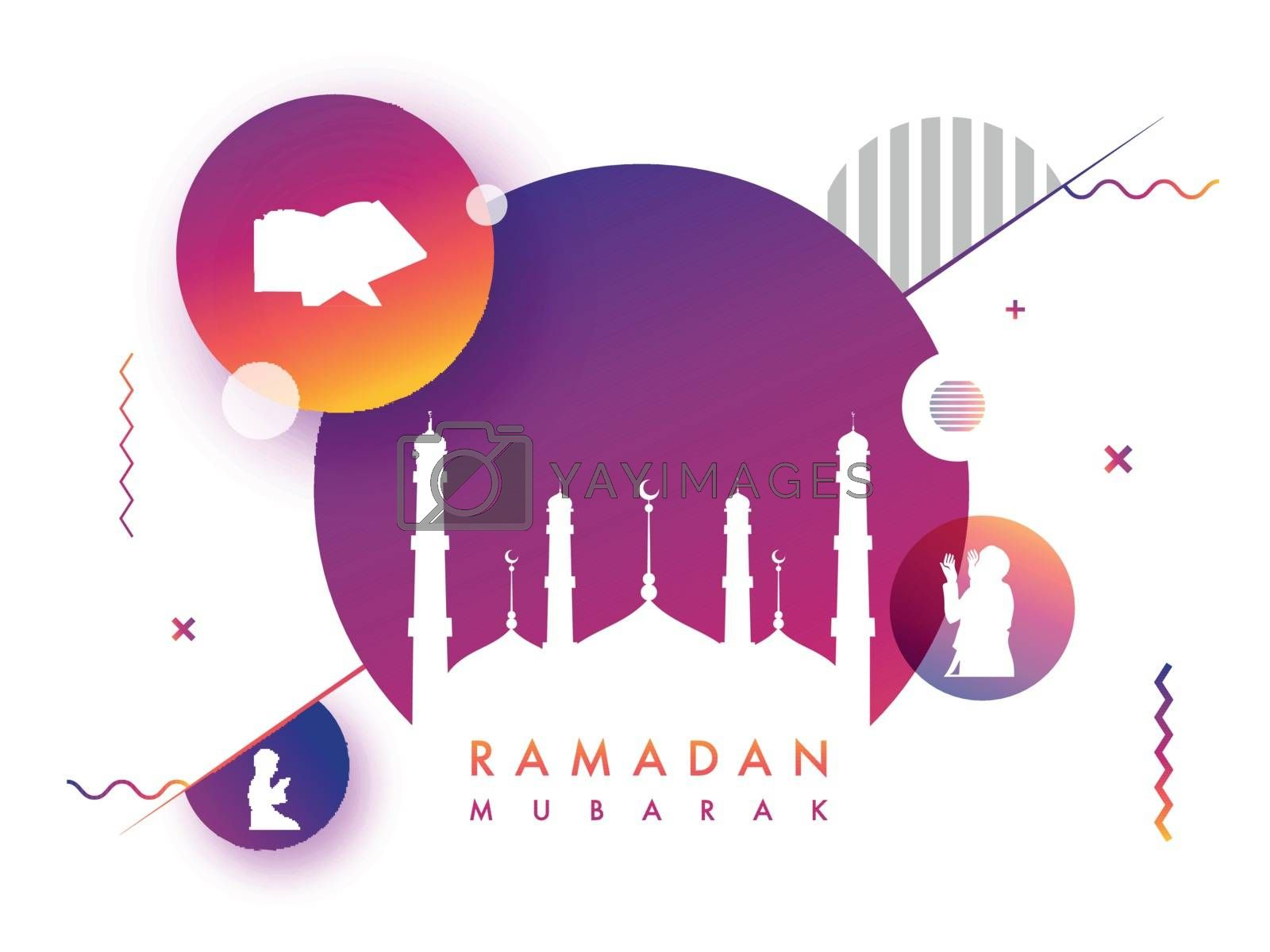 Ramadan Kareem banner with Islamic elements. by aispl