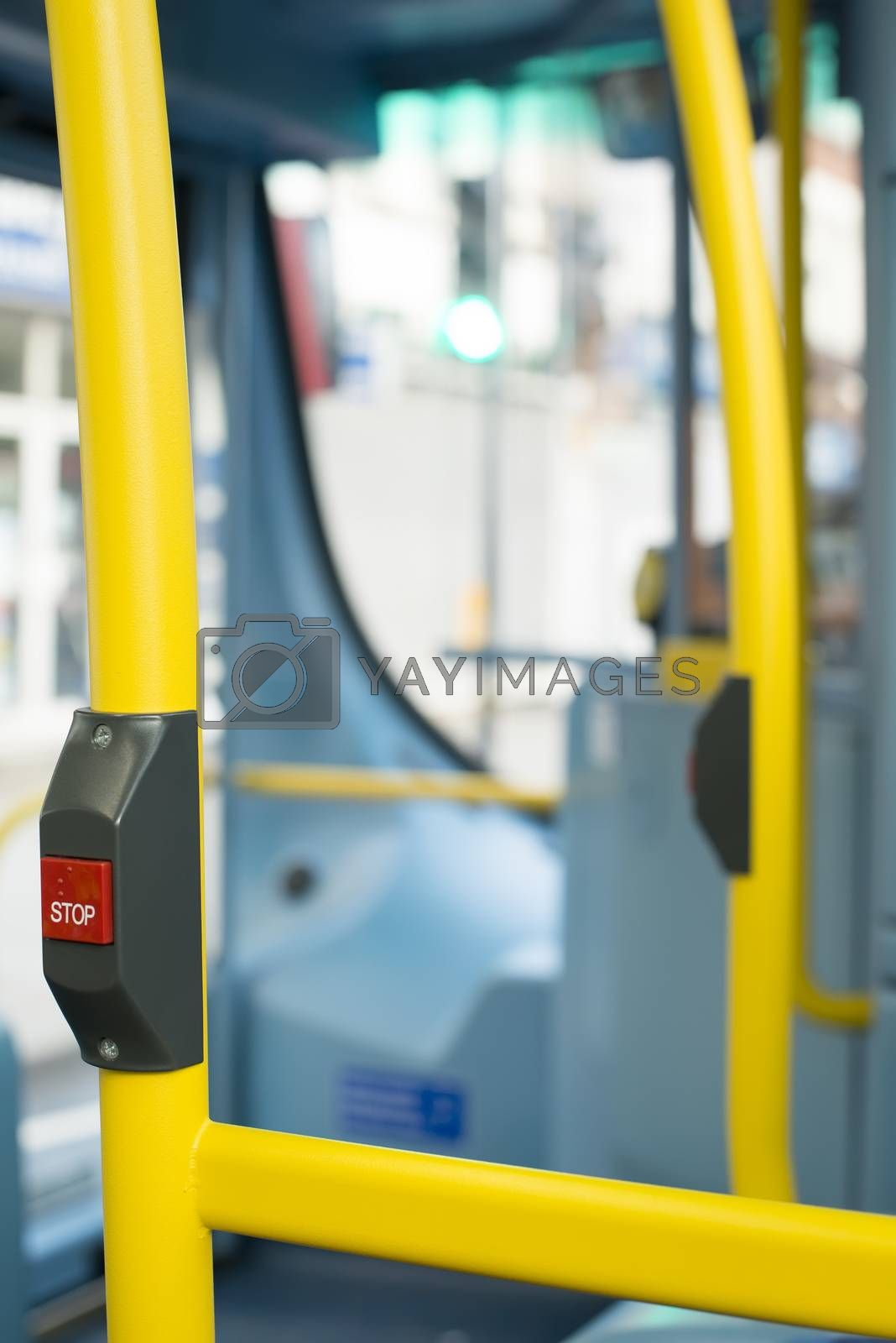 Royalty free image of Bus Interior at public transport by deyan_georgiev