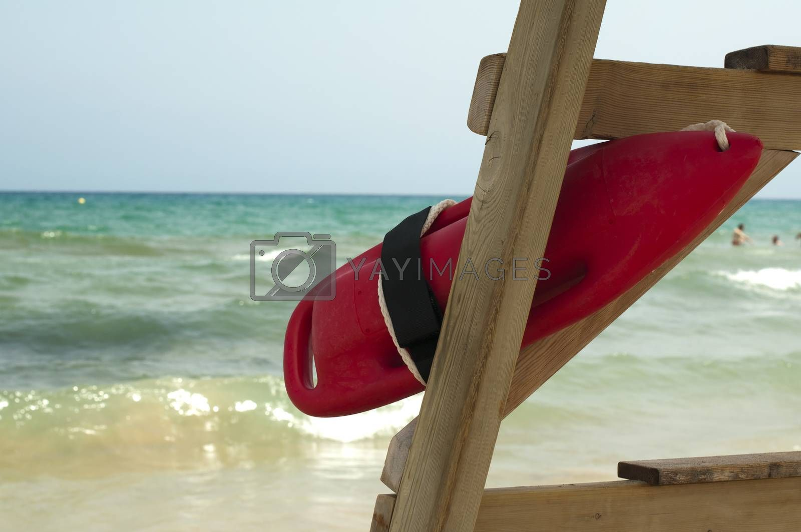 Red buoy for a lifeguard to save people  by Georgiev