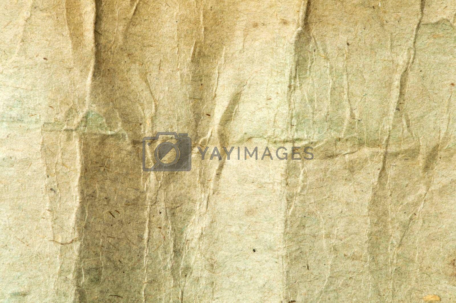 Old crumpled paper. Paper texture