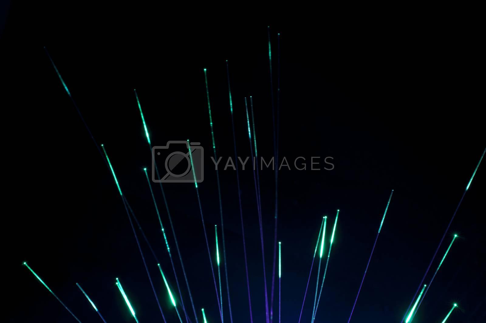 Green colors optical fibers